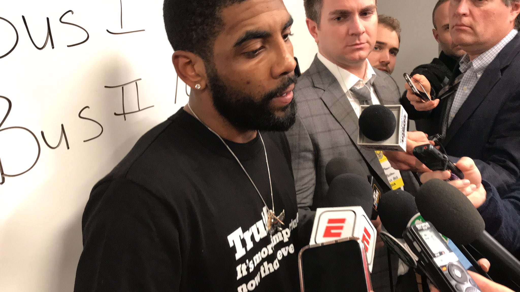 Kyrie Irving wore the New York Times' 'Truth' shirt after Celtics' 1-point loss, but why?