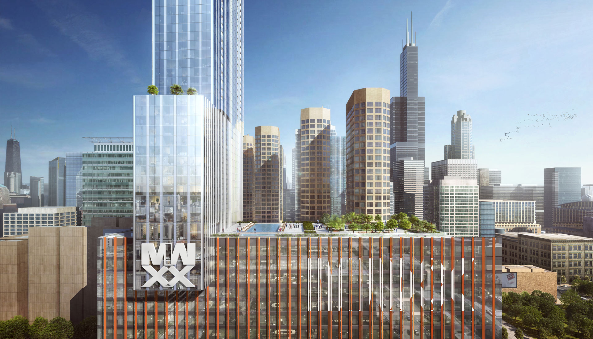 Designers at bKL Architecture envision 63-story tower for prominent downtown lot