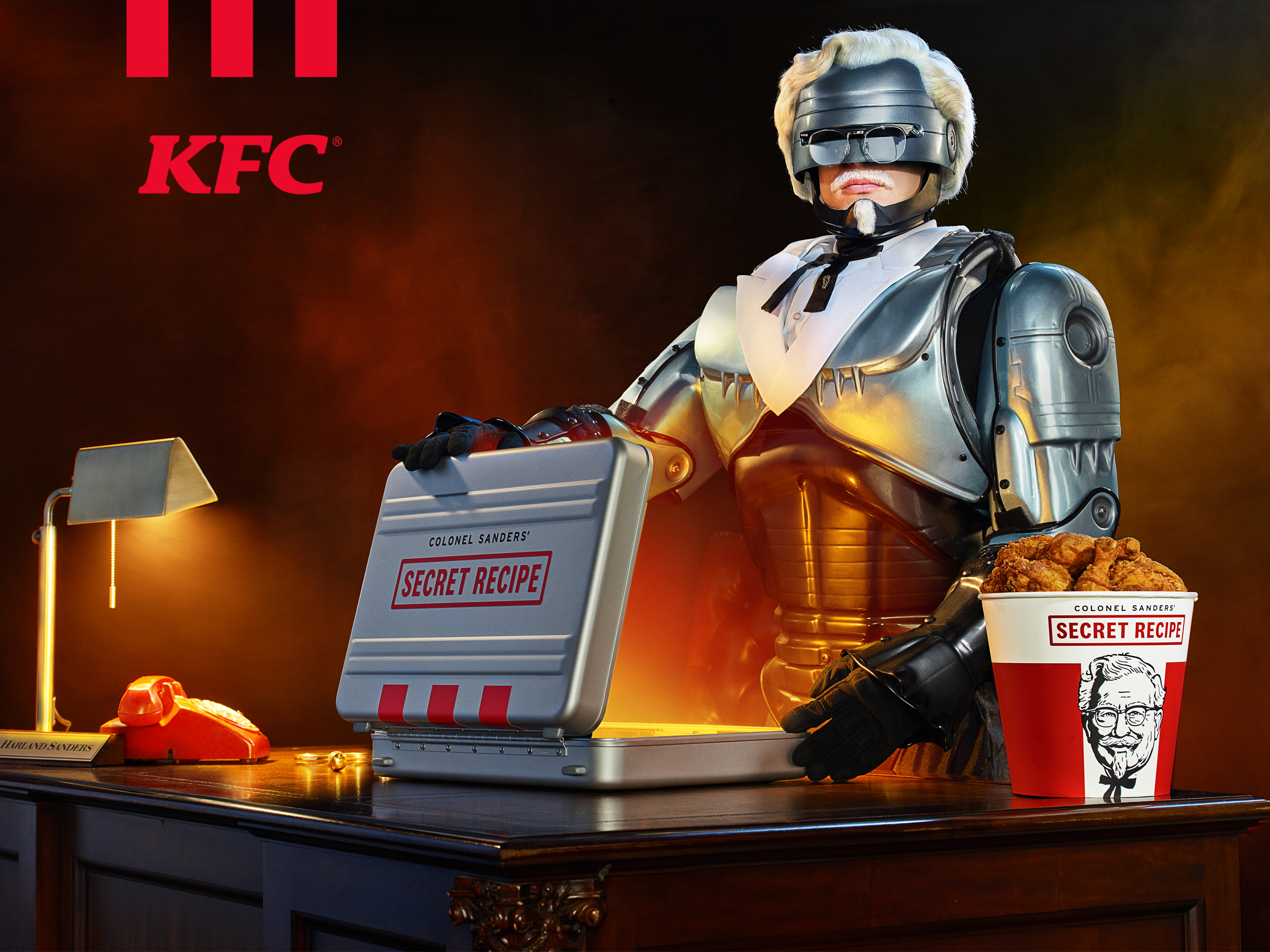 RoboCop Colonel Sanders Is Here to Threaten People With Kentucky Fried Chicken