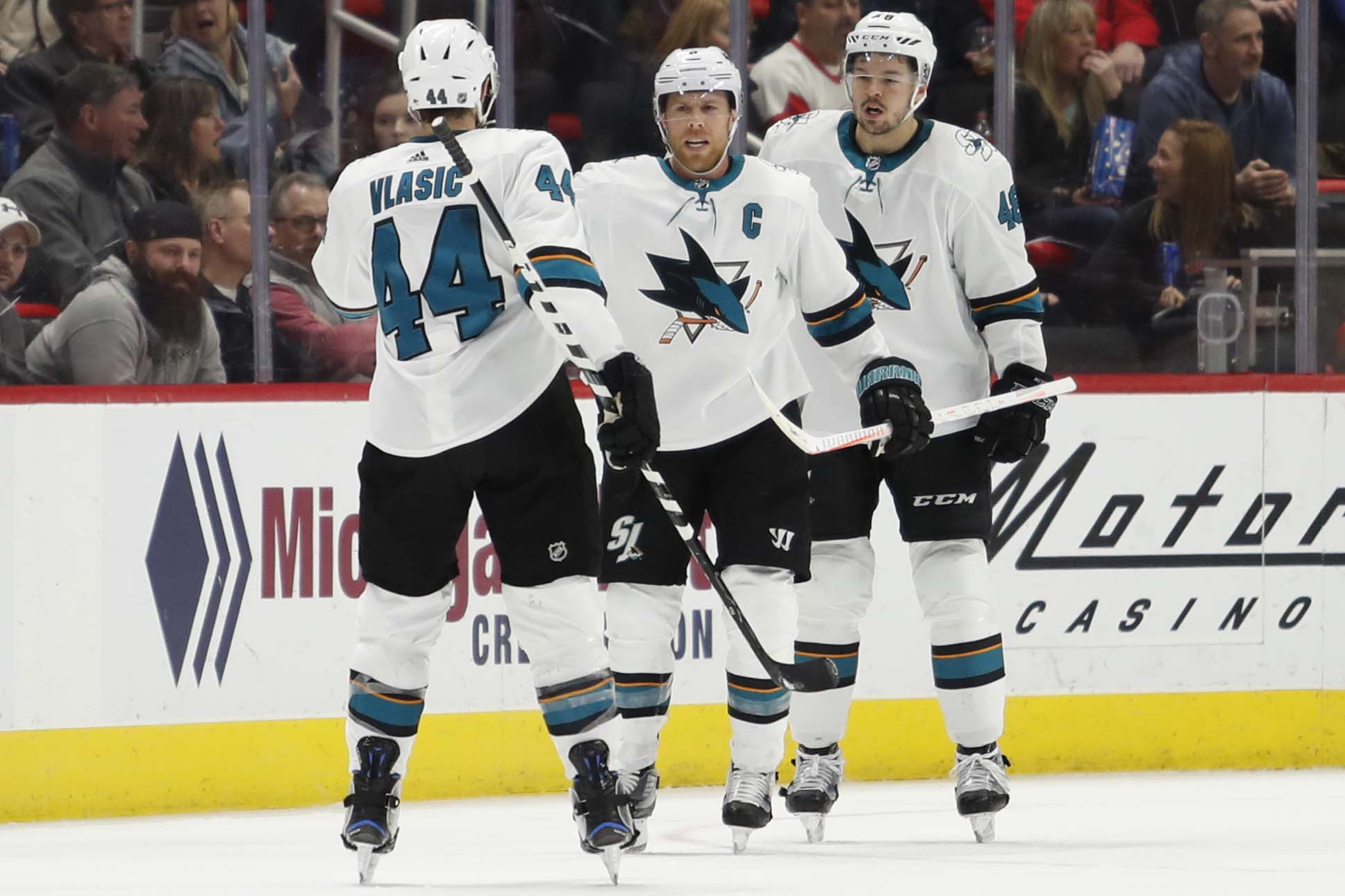 NHL: San Jose Sharks at Detroit Red Wings