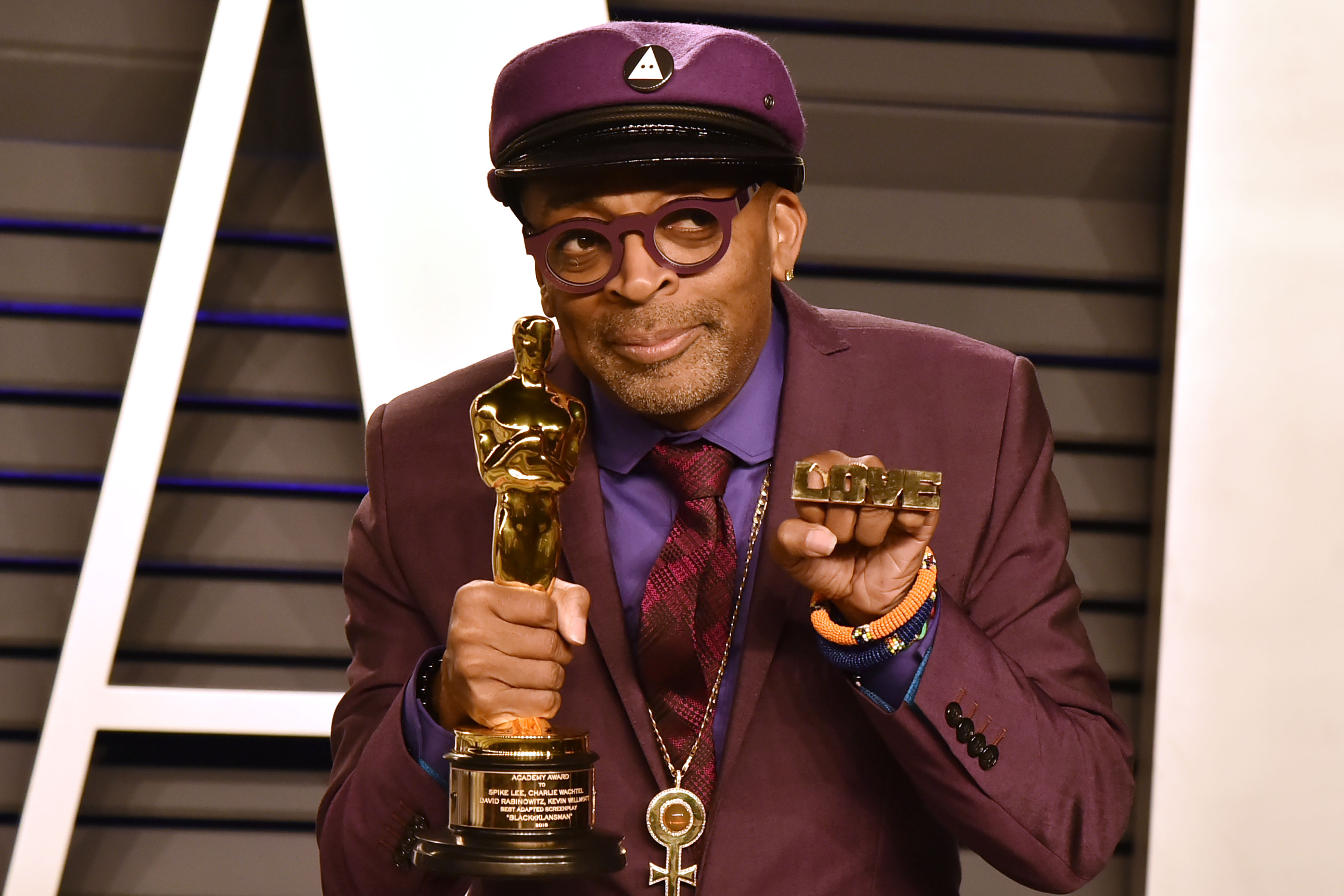 spike lee at the vanity fair oscar after party