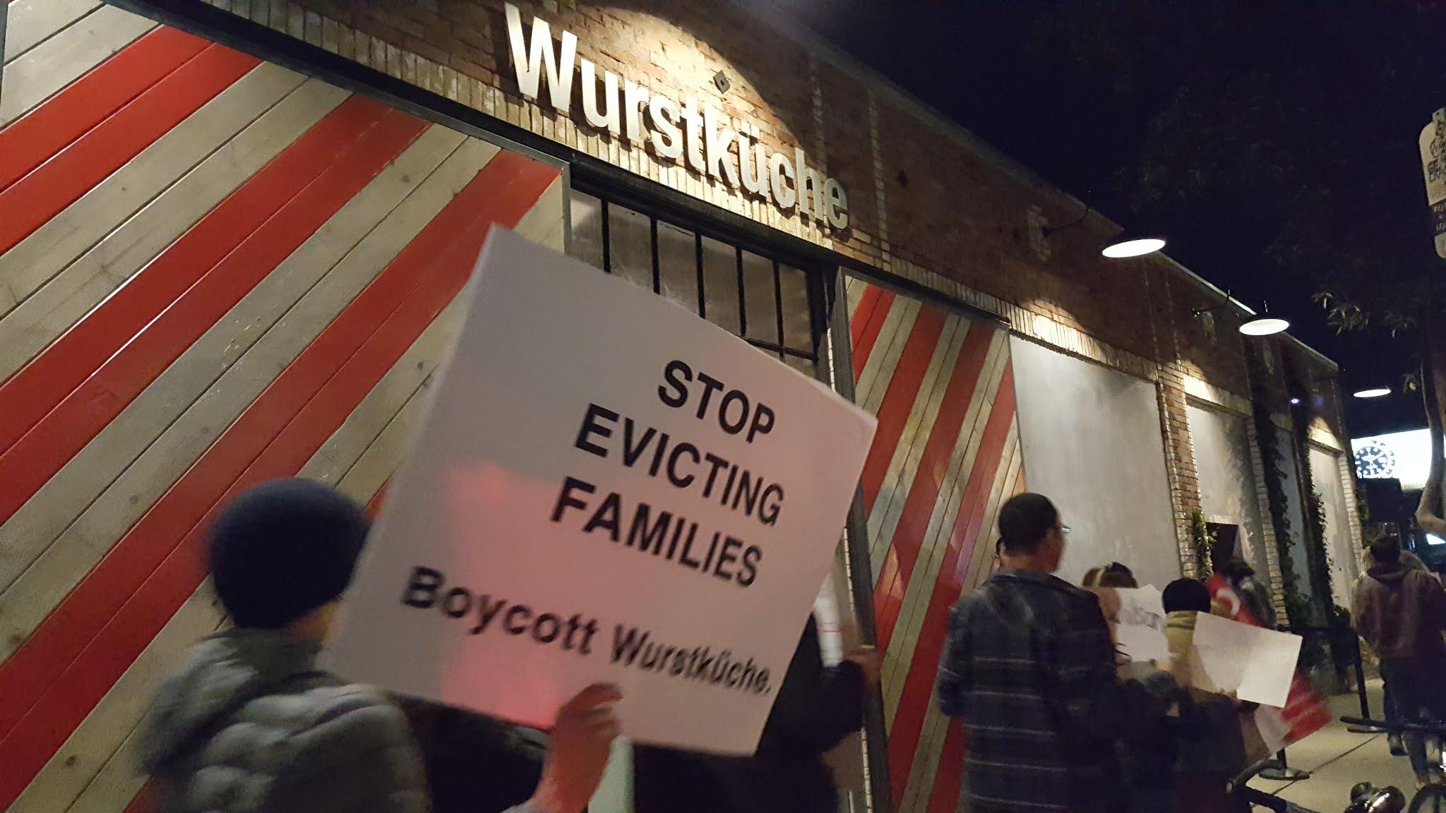 Wurstkuche protest
