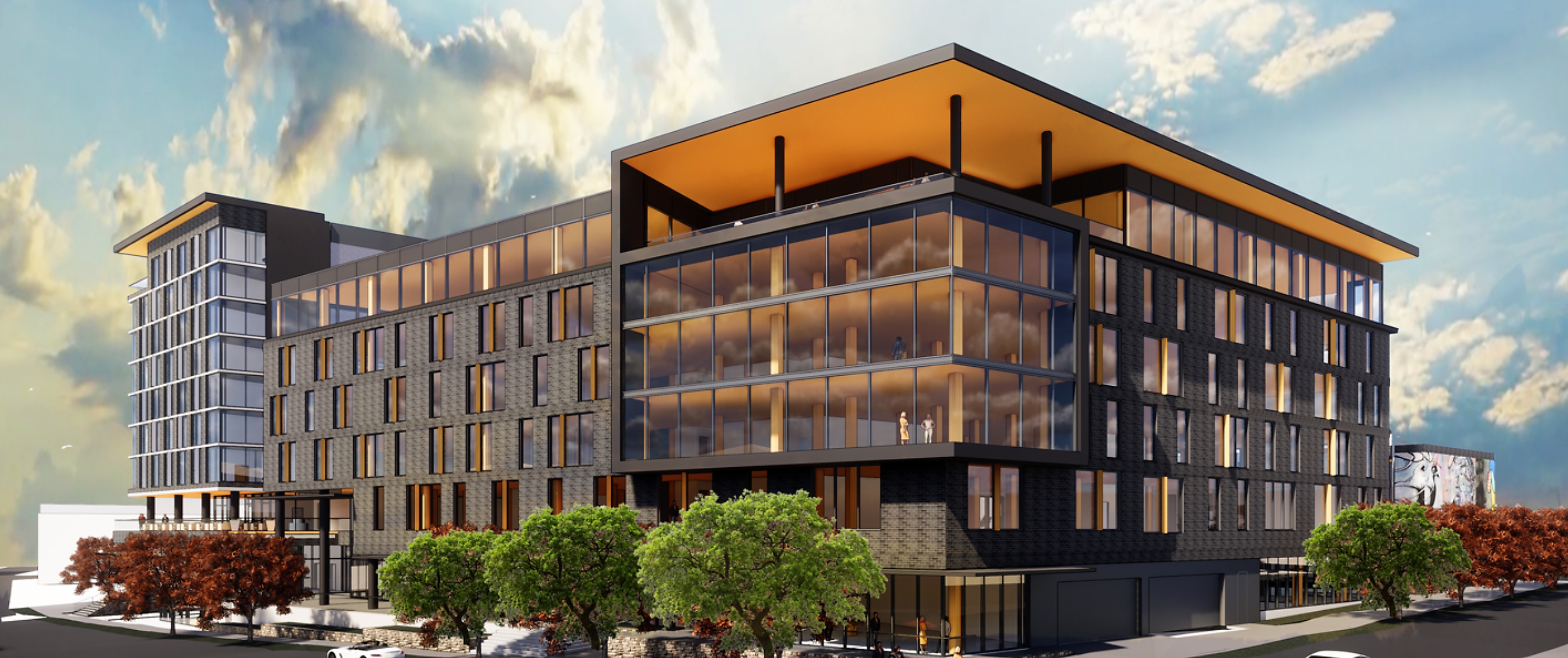 a rendering of the upcoming complex