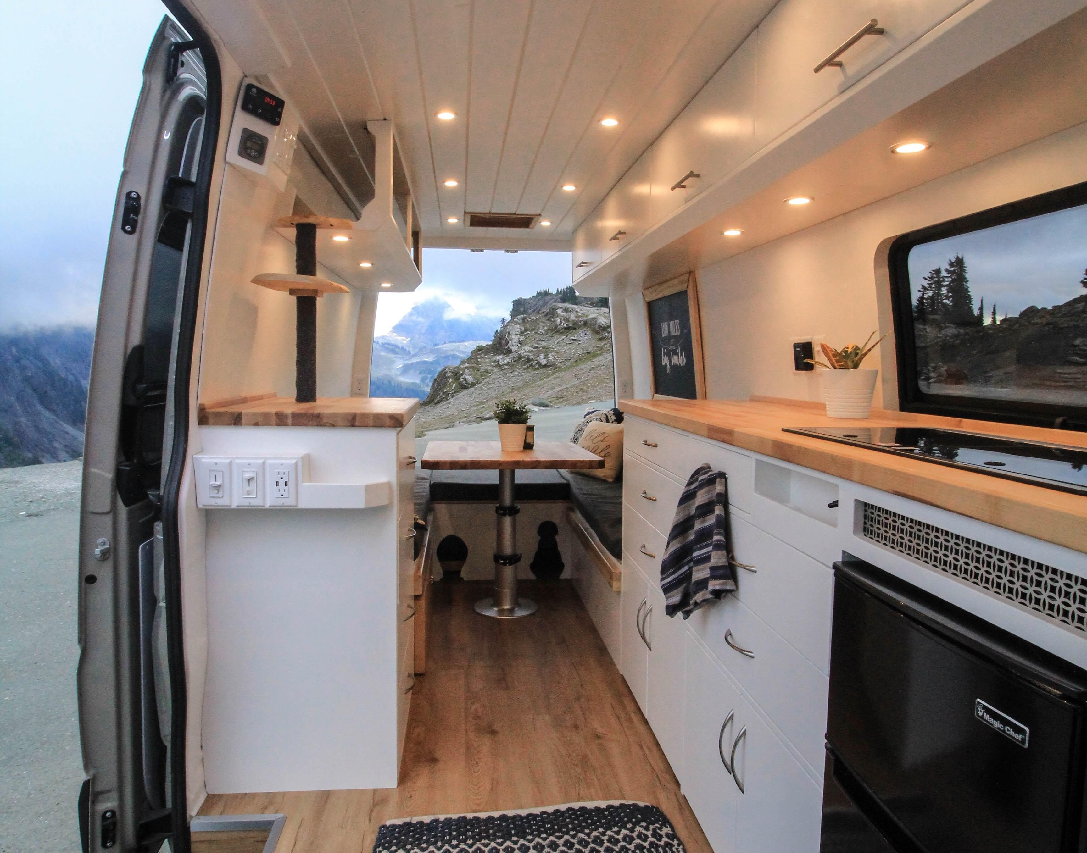 Converted camper van is a cozy home on wheels