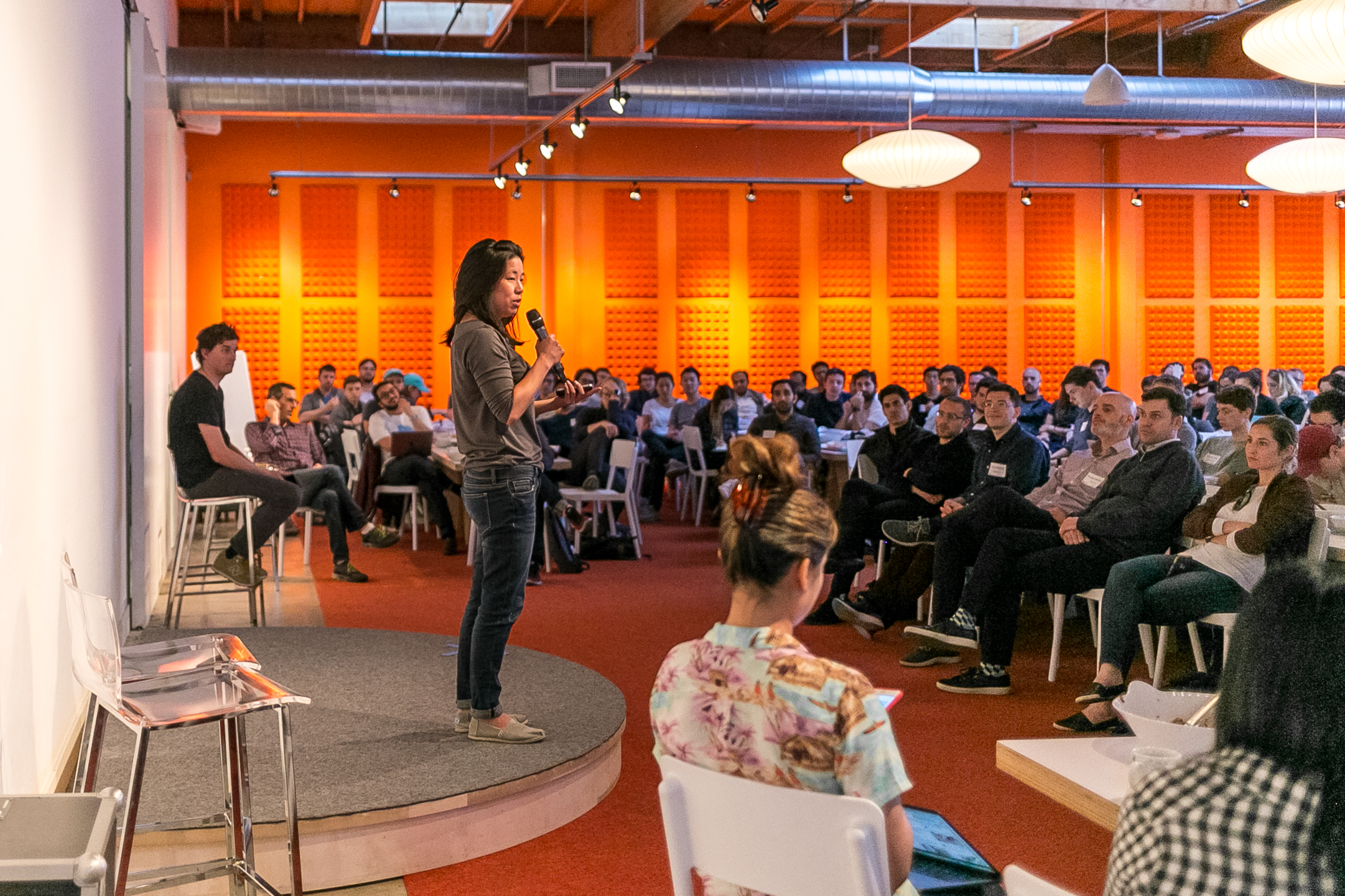 Startup School's Adora Cheung speaks to an audience