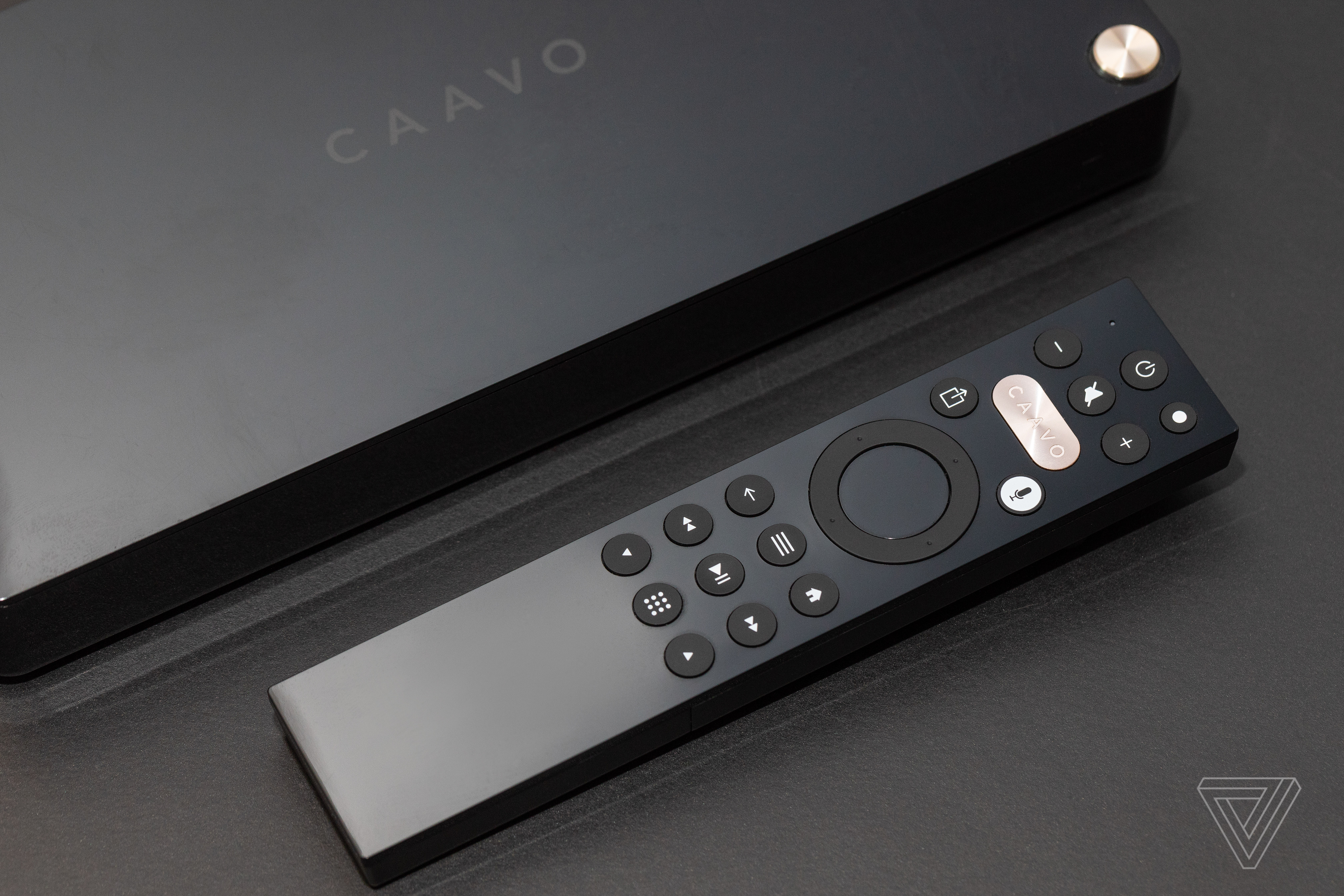 Caavo remote and box