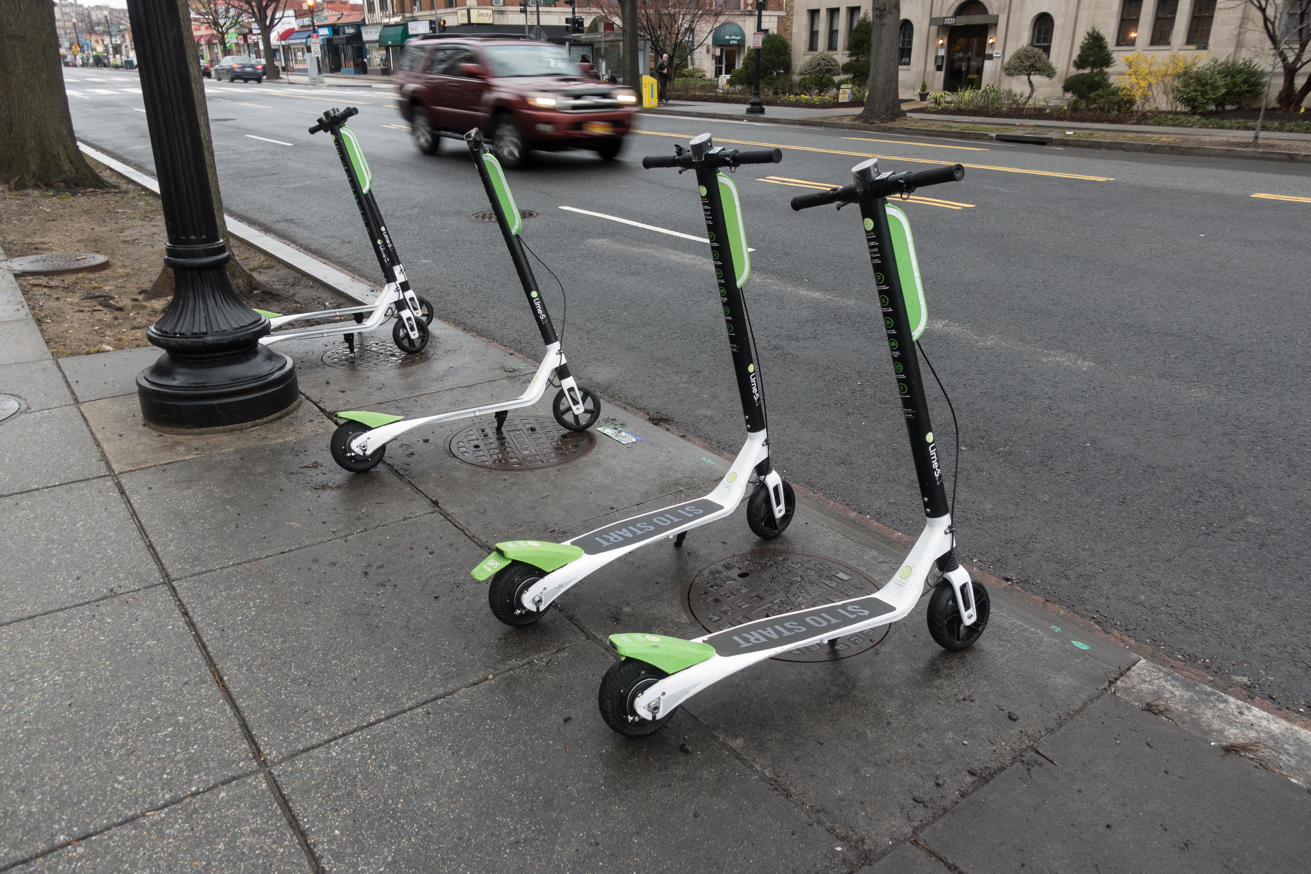 LimeBike scooters in Washington, D.C.