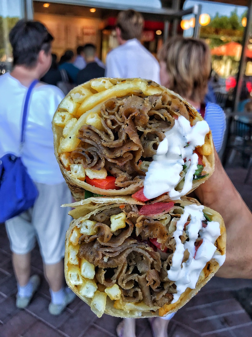 A doner kebab from The Kebab Shop