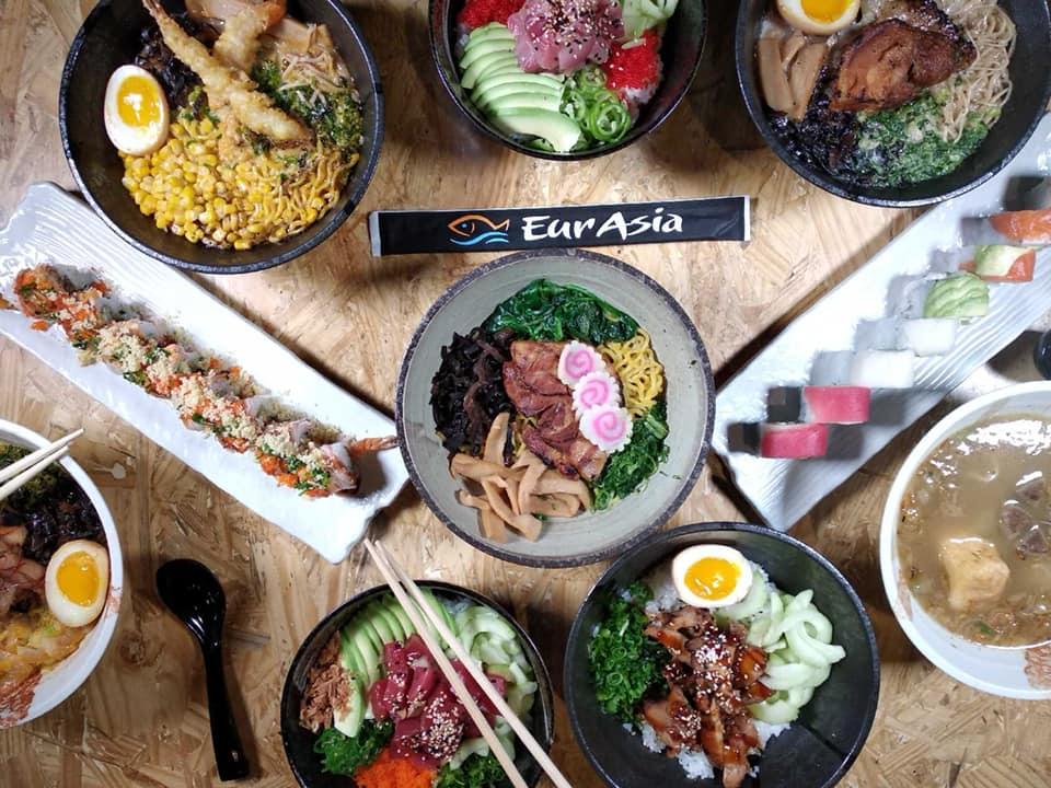 Dishes from Eurasia Ramen