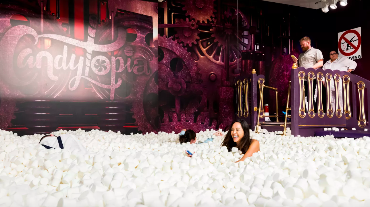 Dive Into a Marshmallow Pool Inside Mall of America's Candytopia this Thursday