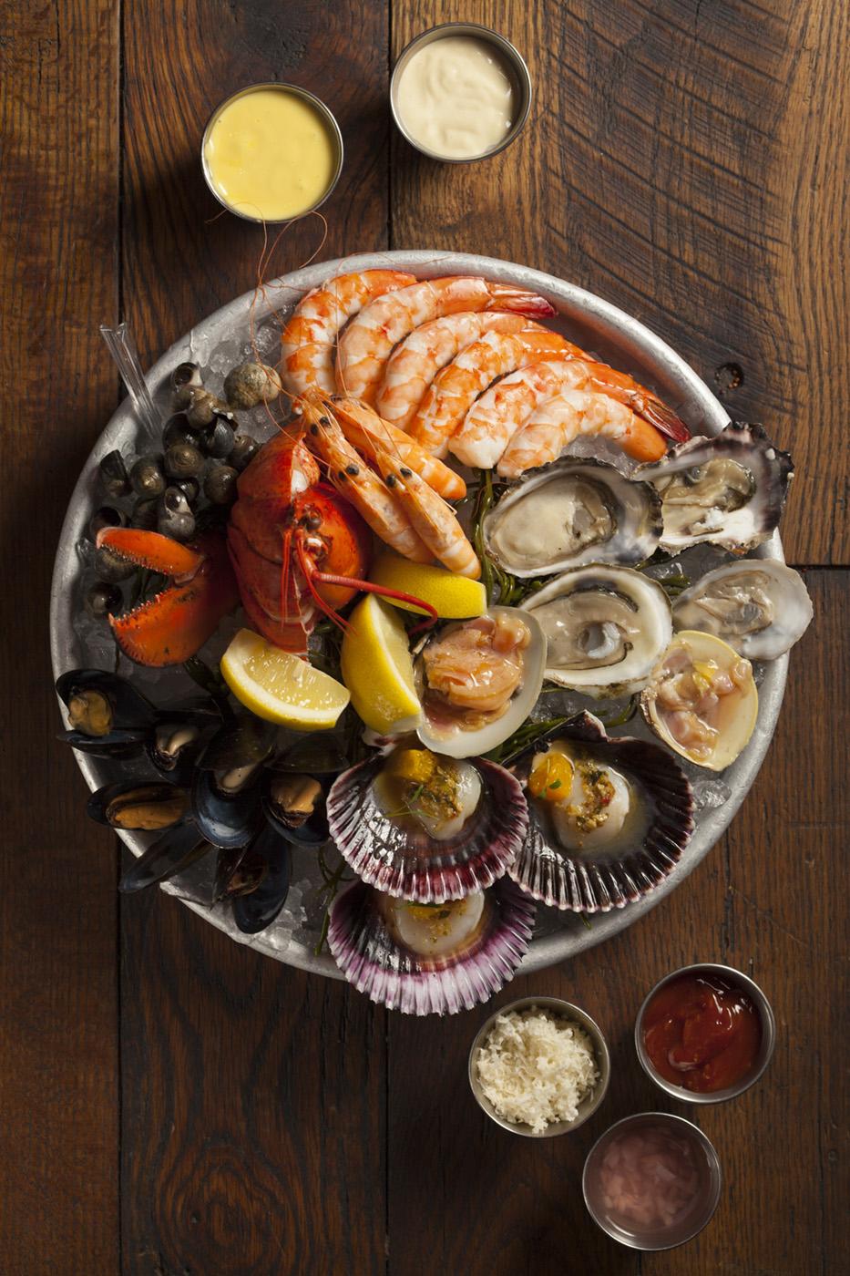 Shellfish platter at Water Grill