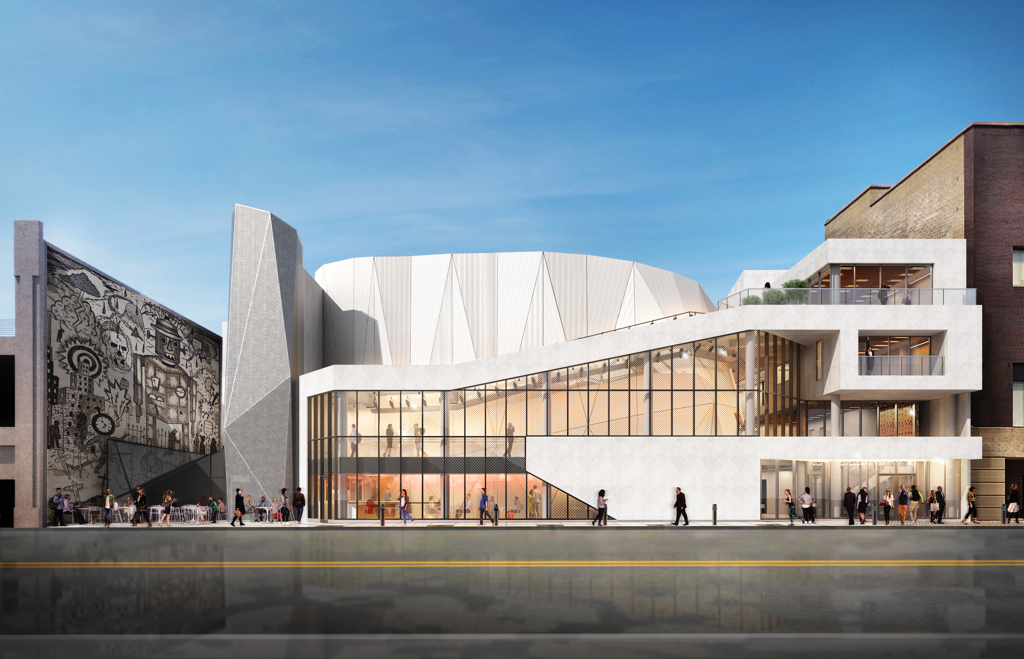 Steppenwolf expands theater with dramatic, geometric design from Smith + Gill