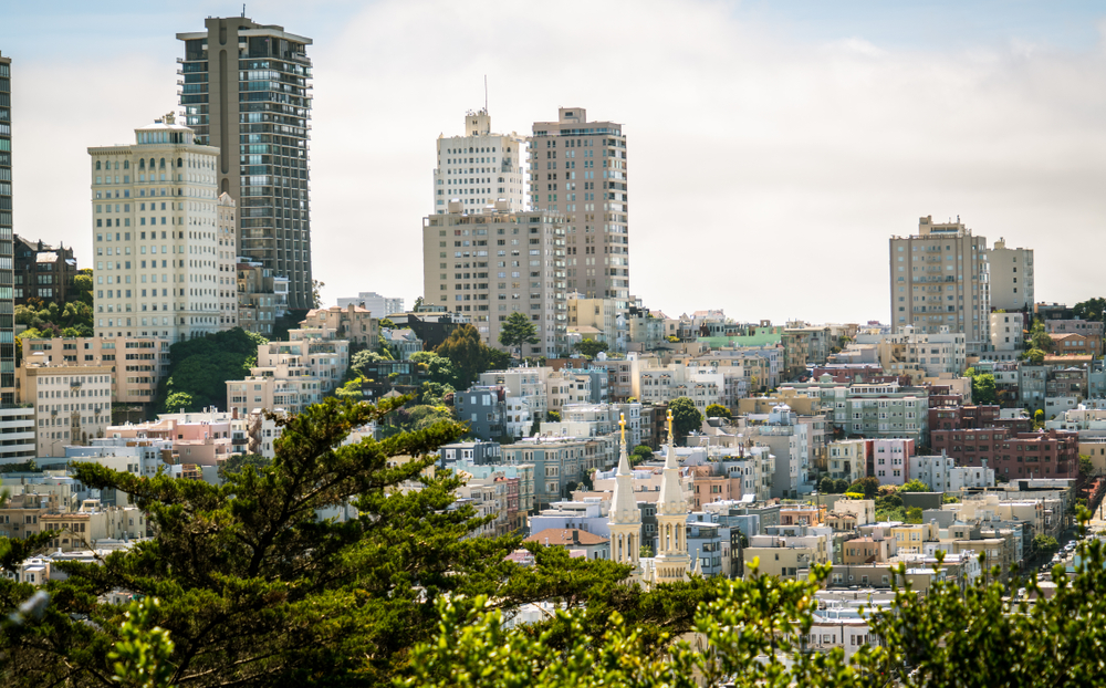 SF apartments seen from Telegraph Hill.