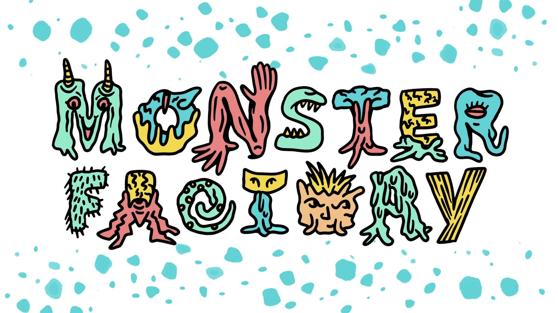 Monster Factory monster letter logo