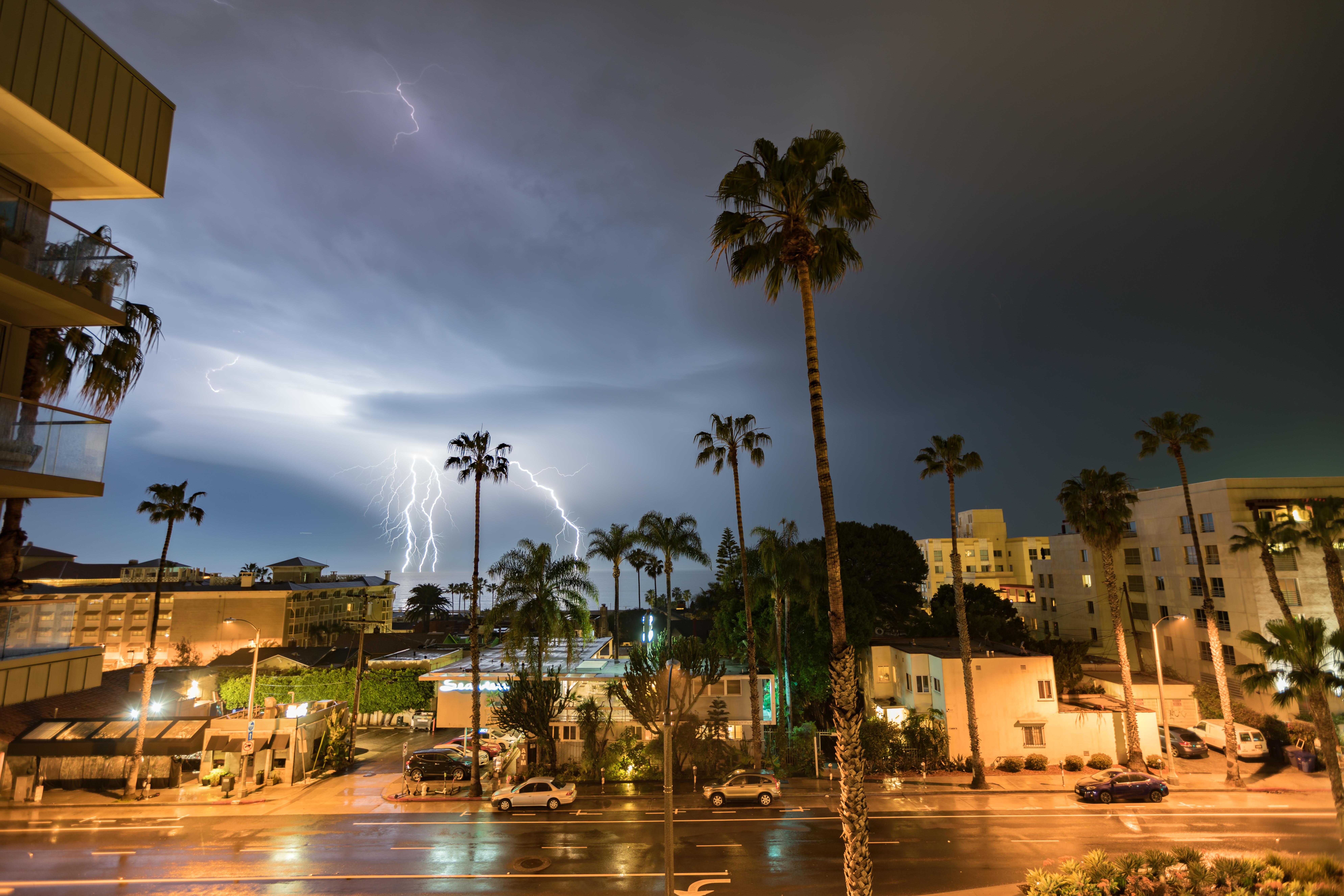 Photos: See LA's night sky electrified by phenomenal lightning show
