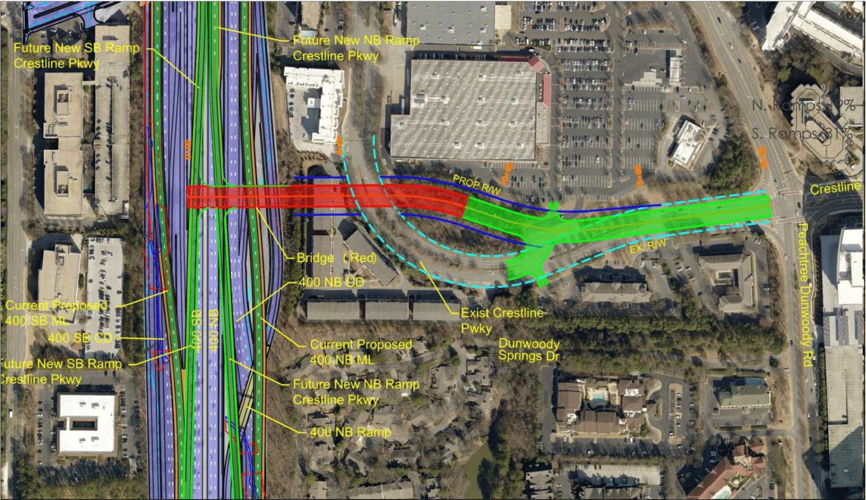 a map depicting the interchange plans