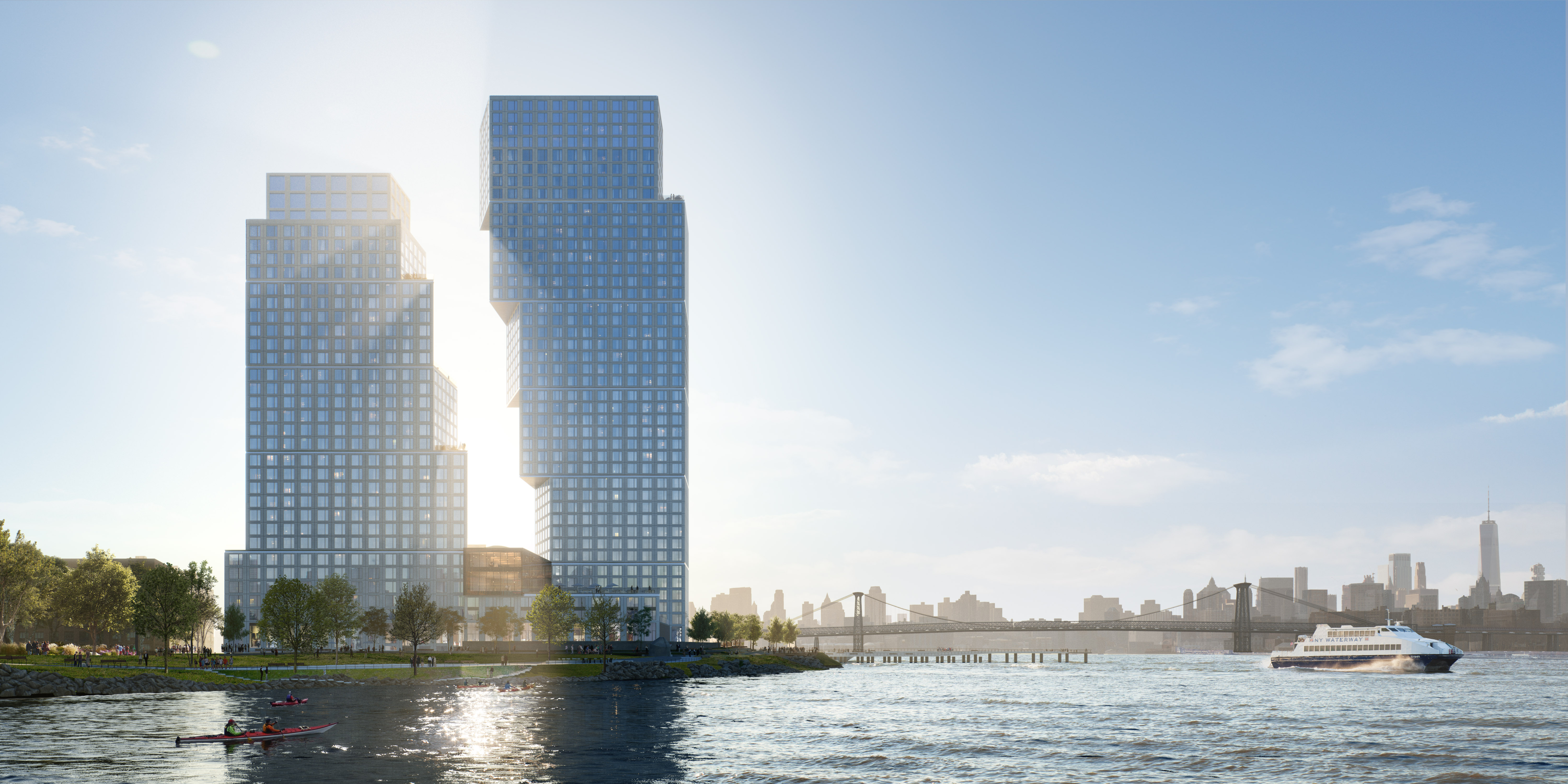 Rem Koolhaas's OMA will bring 745 rentals to Greenpoint waterfront