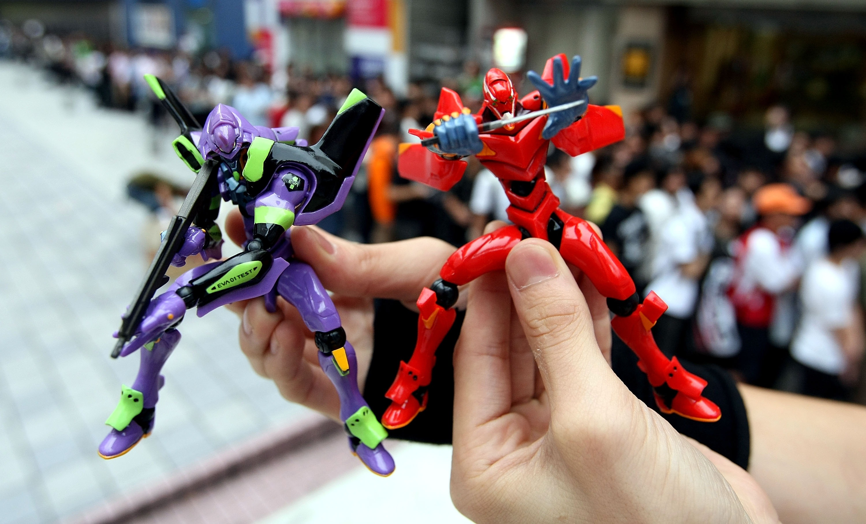 Fans Gather On The Opening Day Of 'Evangelion'