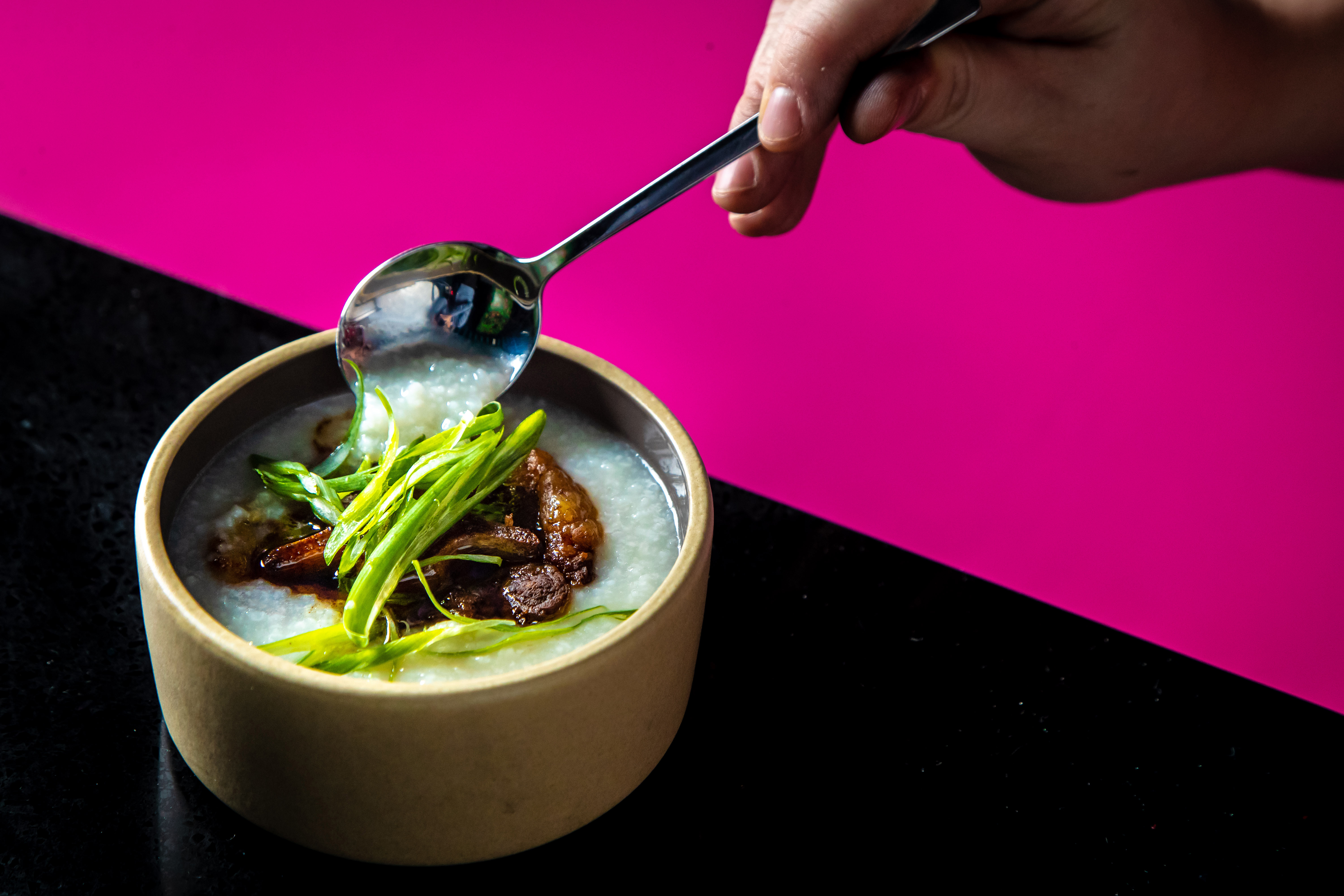 The oxtail congee at Madame Vo BBQ