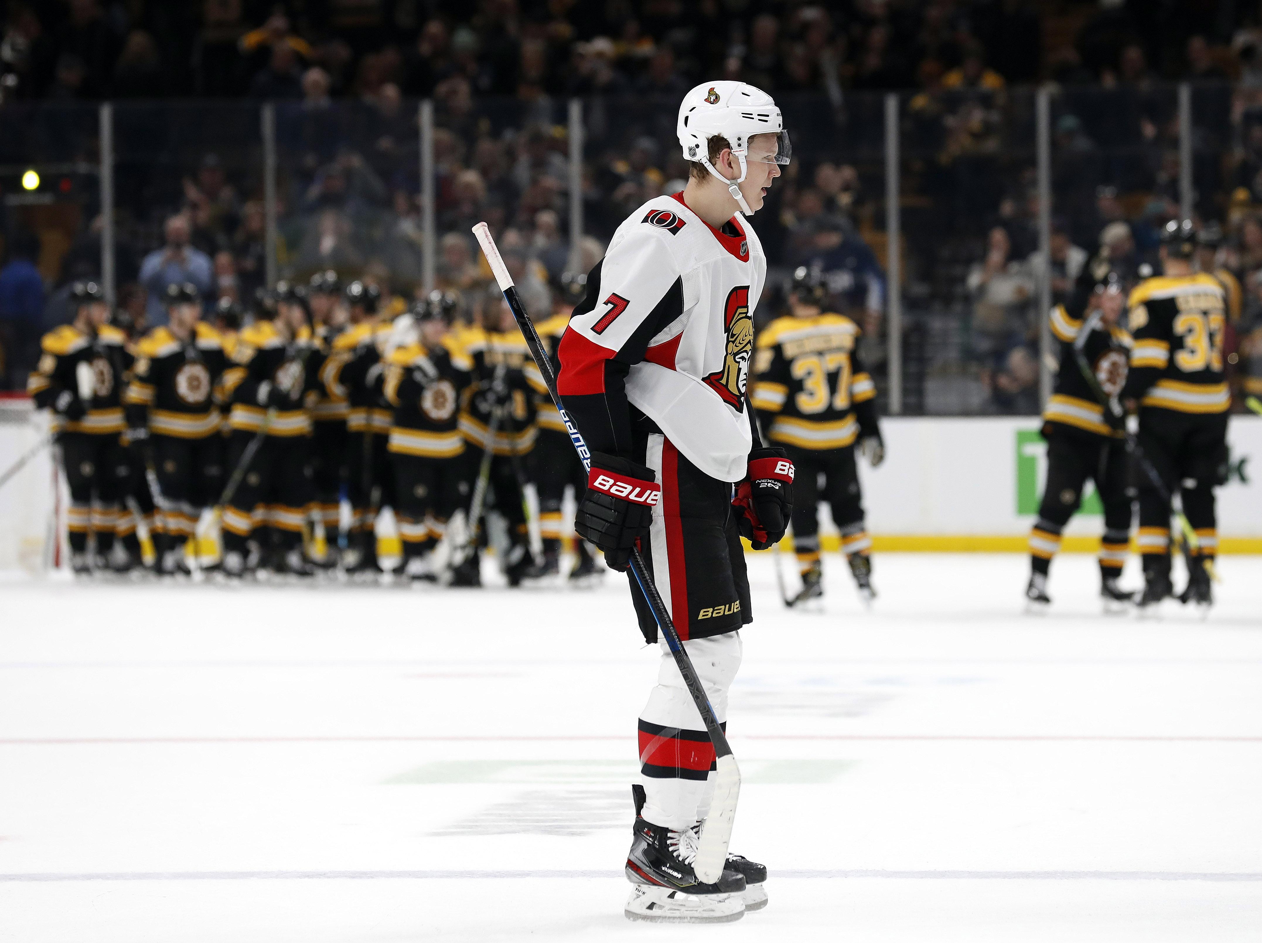 NHL: Ottawa Senators at Boston Bruins