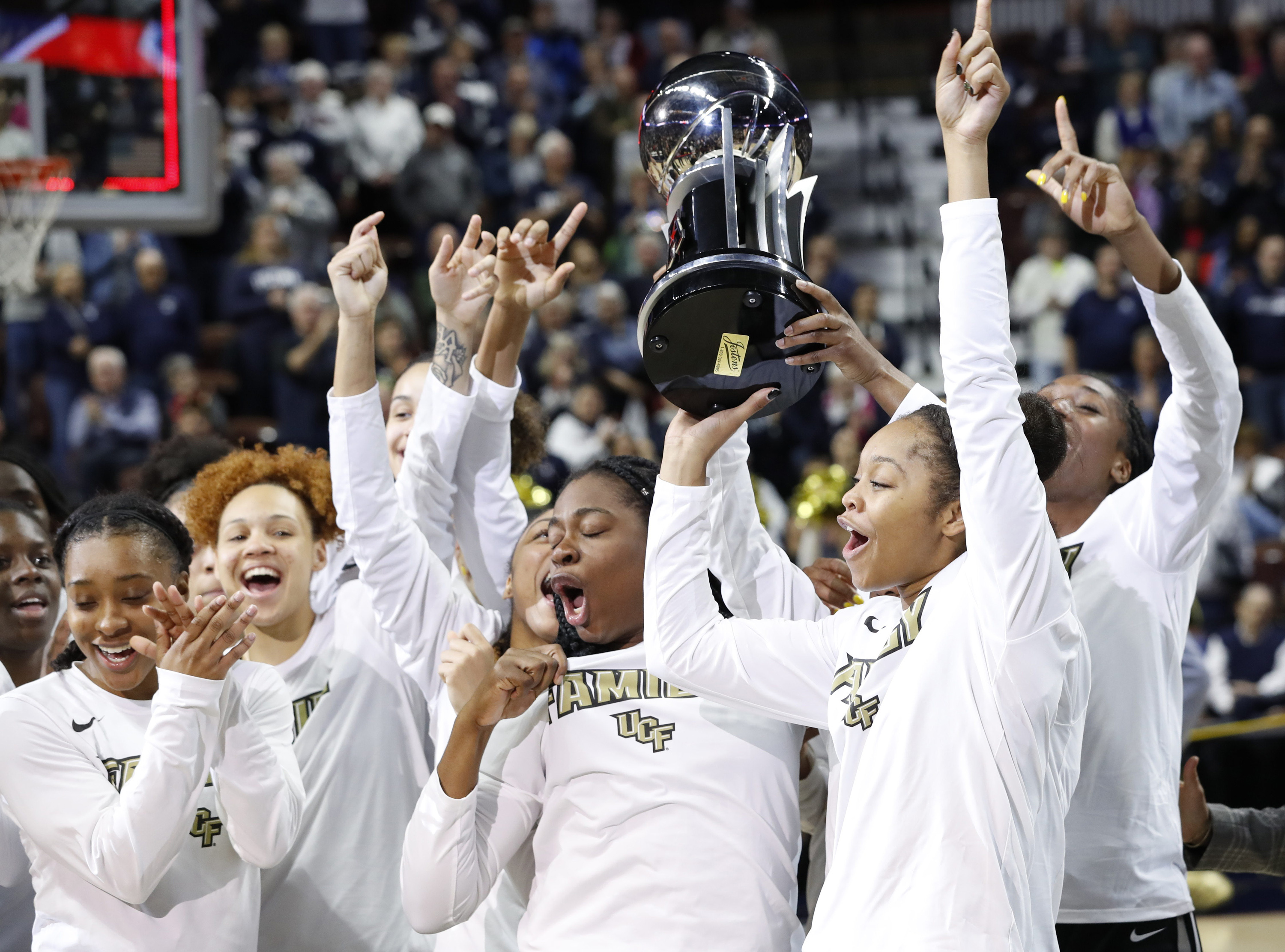 75be3fd0 UCF Takes Home AAC Women's Basketball Champion-That-Isn't-UConn Trophy
