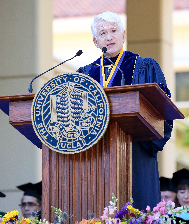 David Geffen Receives UCLA Medal Of Honor At David Geffen School Of Medicine At UCLA Graduation