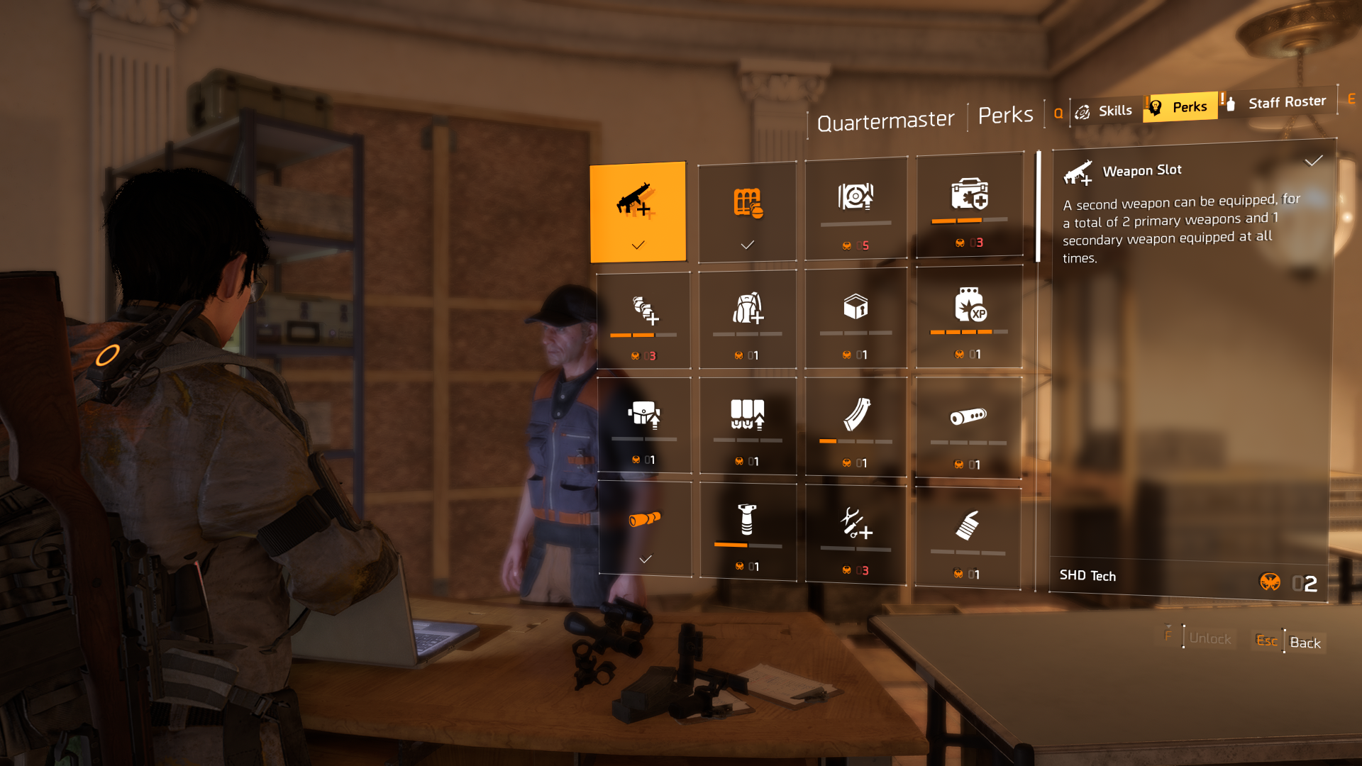 The perk tree in The Division 2