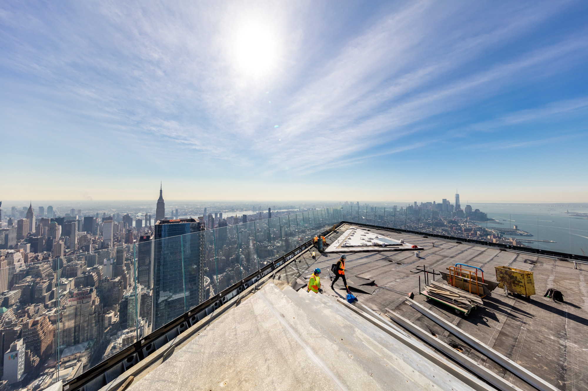 See the incredible views from Hudson Yards's sky-high observation deck