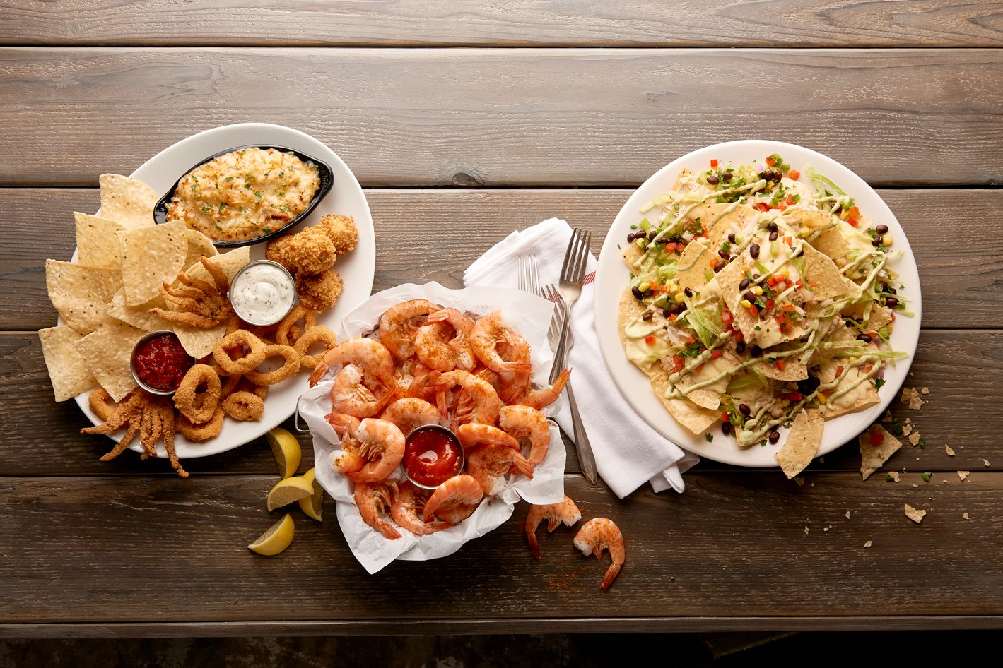 Dishes from Joe's Crab Shack