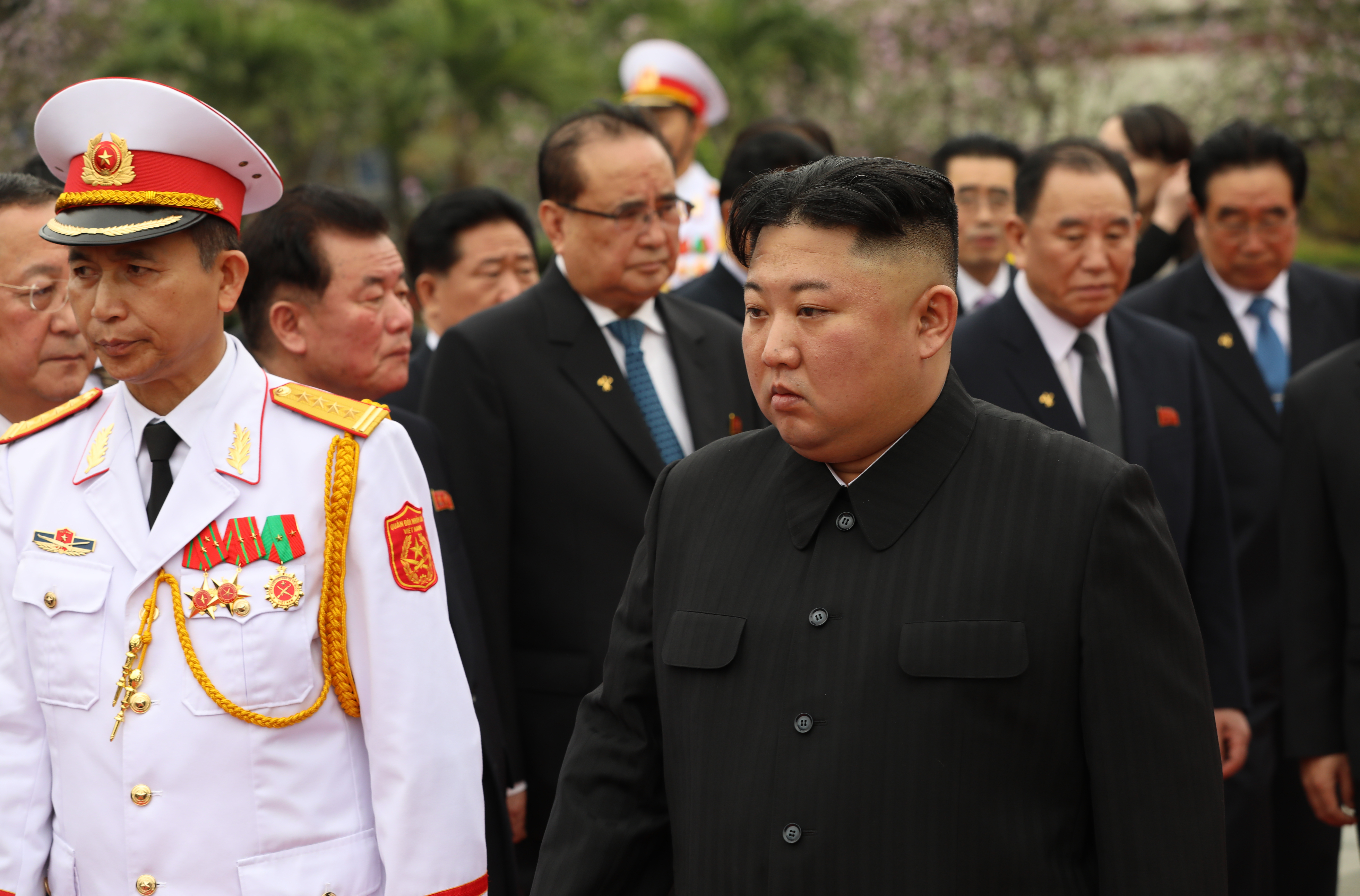North Korean leader Kim Jong Un attended a wreath laying ceremony at the Ho Chi Minh mausoleum on March 2, 2019 in Hanoi, Vietnam.That came days after his failed summit with President Donald Trump.