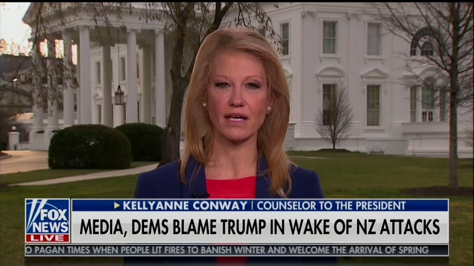 Kellyanne Conway: people should read New Zealand mosque shooter's manifesto