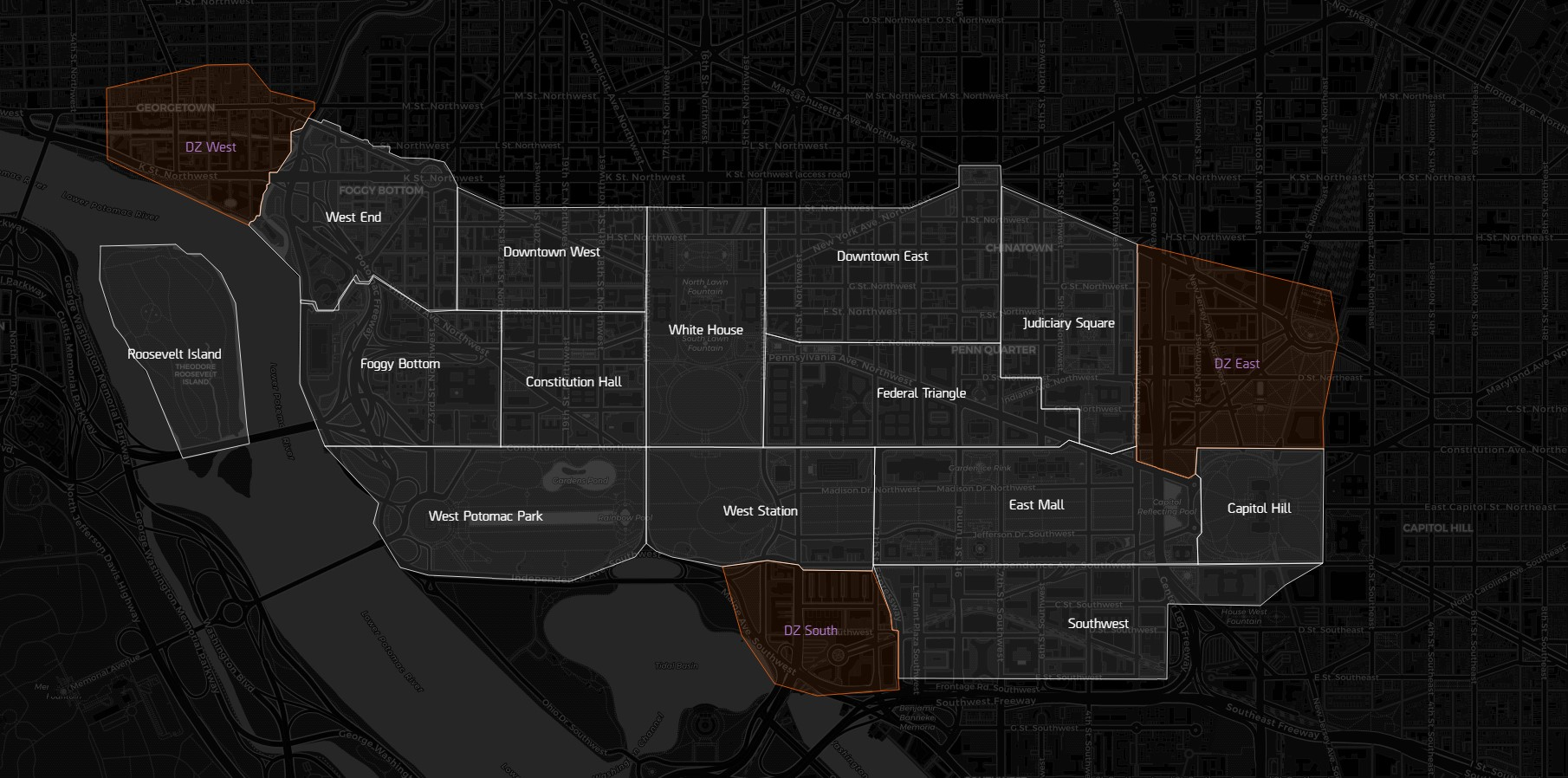 An interactive map of The Division 2
