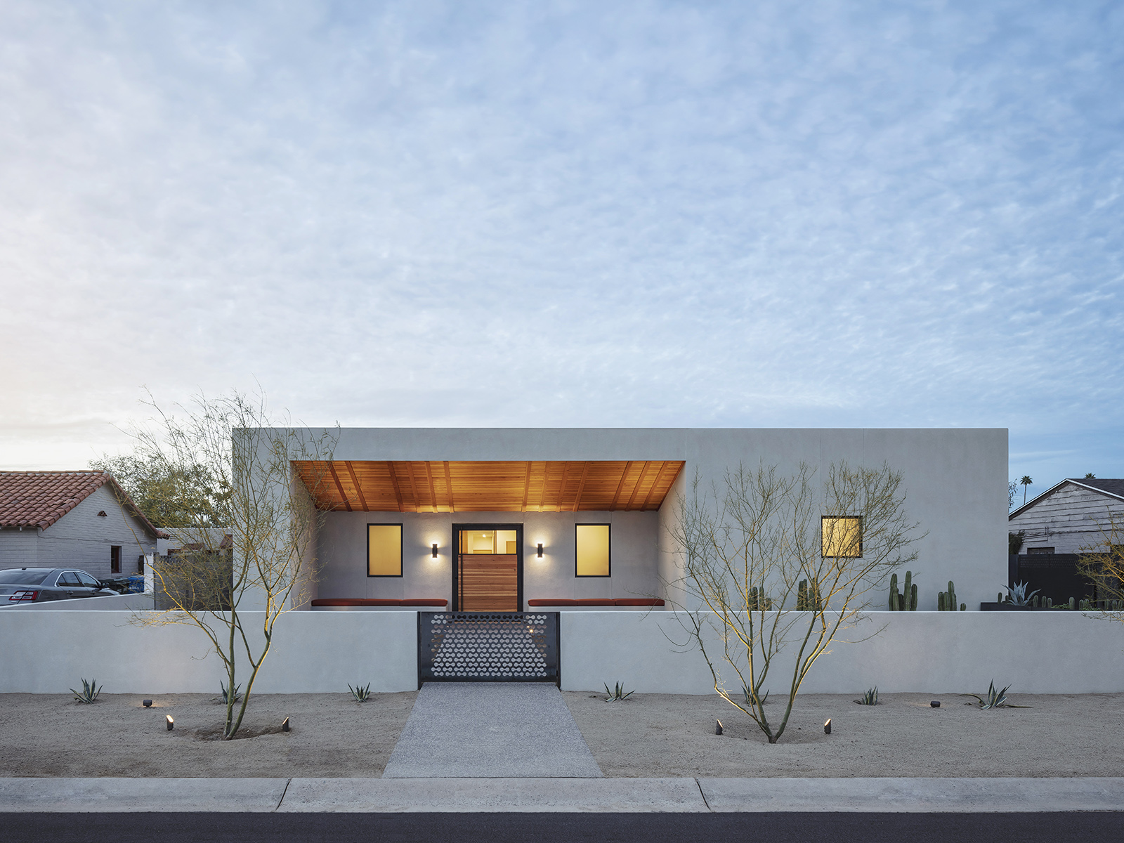 A modern desert home inspired by Georgia O'Keeffe paintings