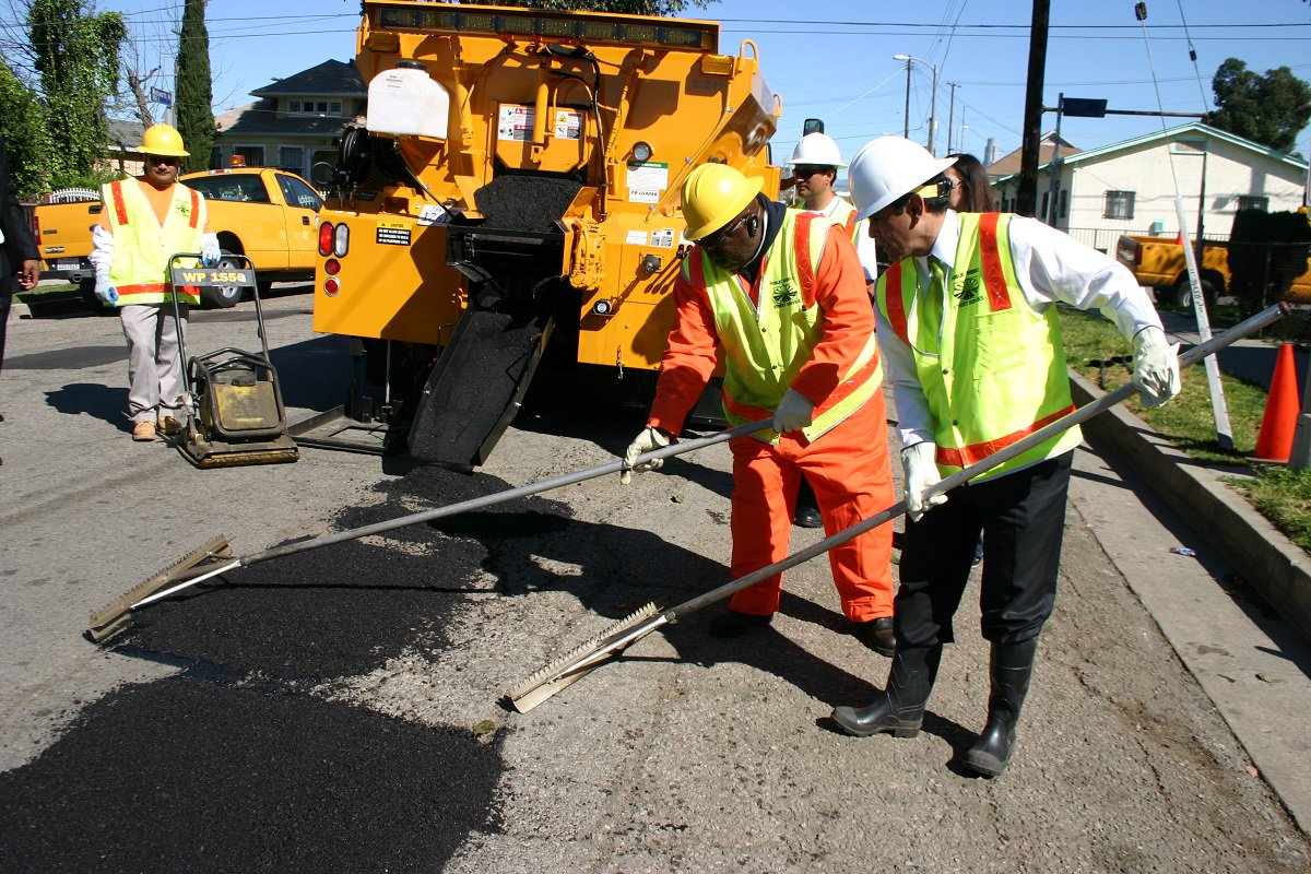 February was the biggest month ever for pothole repair requests in LA