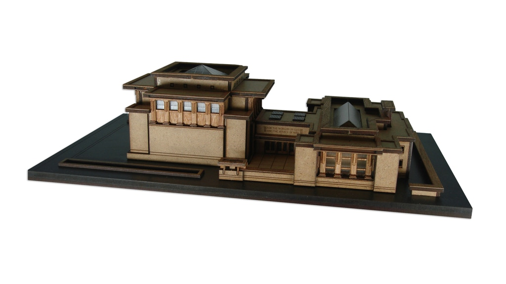 Build your own model of Frank Lloyd Wright's Unity Temple with this crowdfunded kit