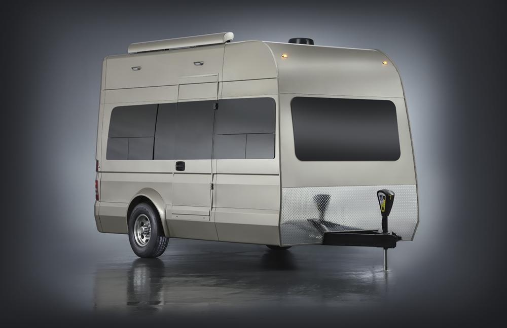 App-controlled camper trailer can haul a Smart car