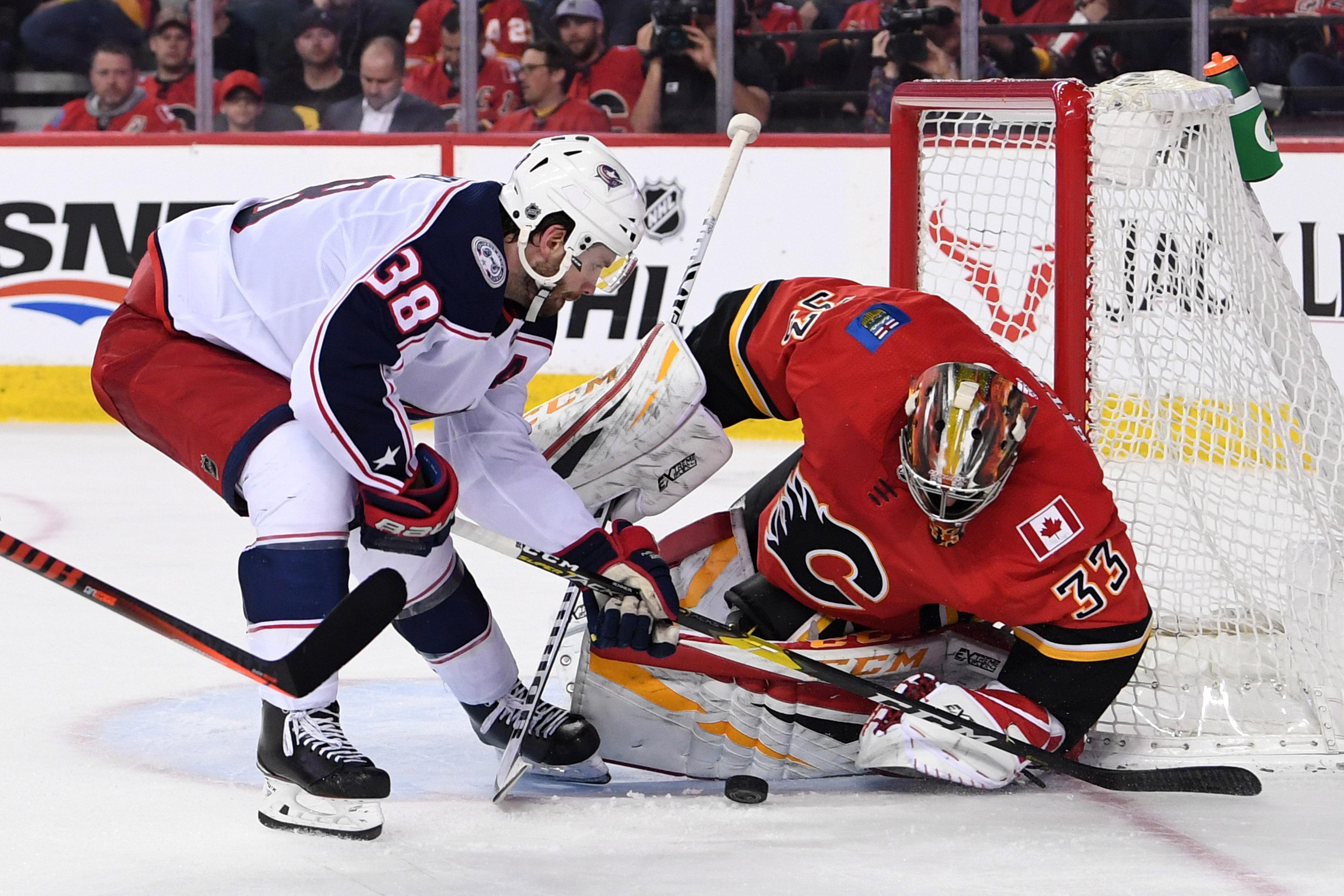 NHL: Columbus Blue Jackets at Calgary Flames