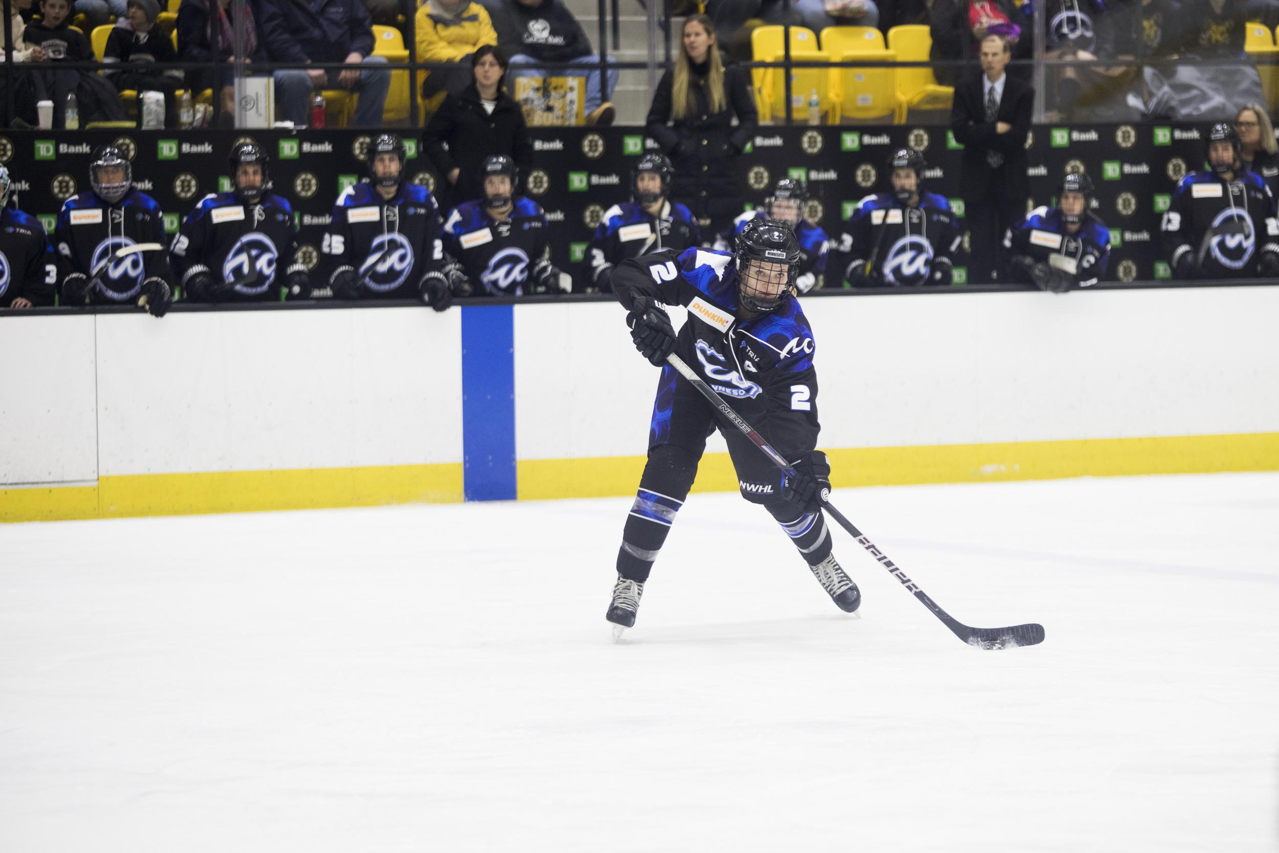 Minnesota Whitecaps overtime hero Lee Stecklein (#2)