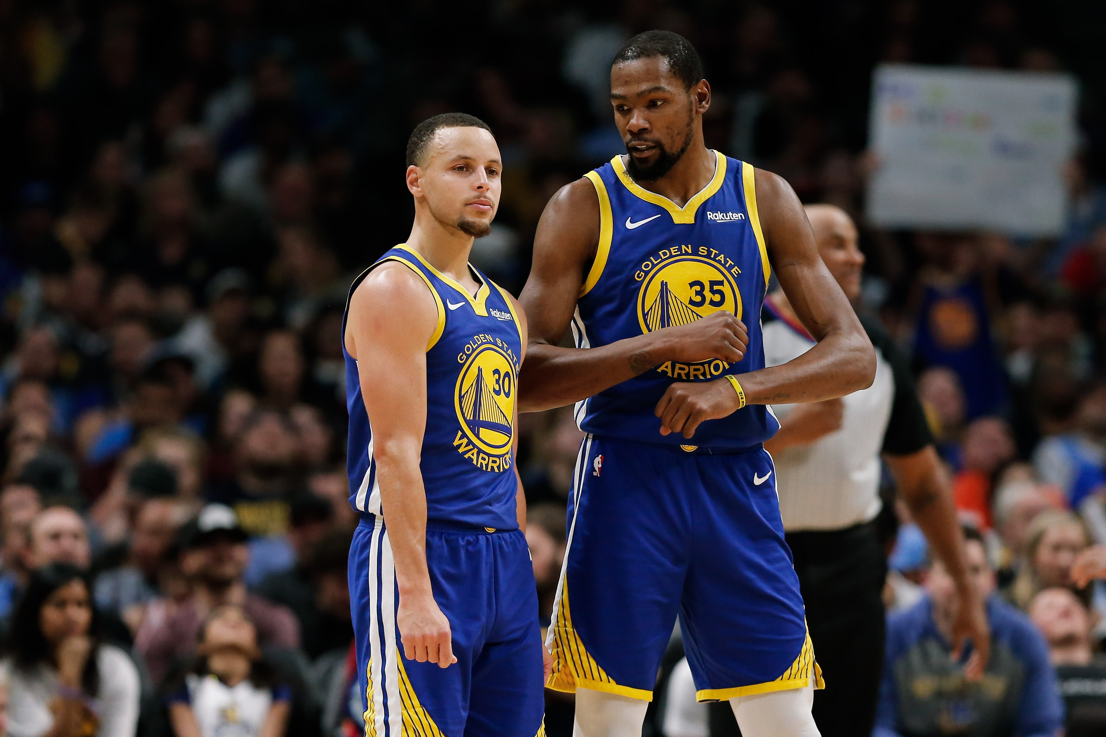 half off f5e67 34d9f Steph Curry, Kevin Durant, and Klay Thompson help set NBA ...