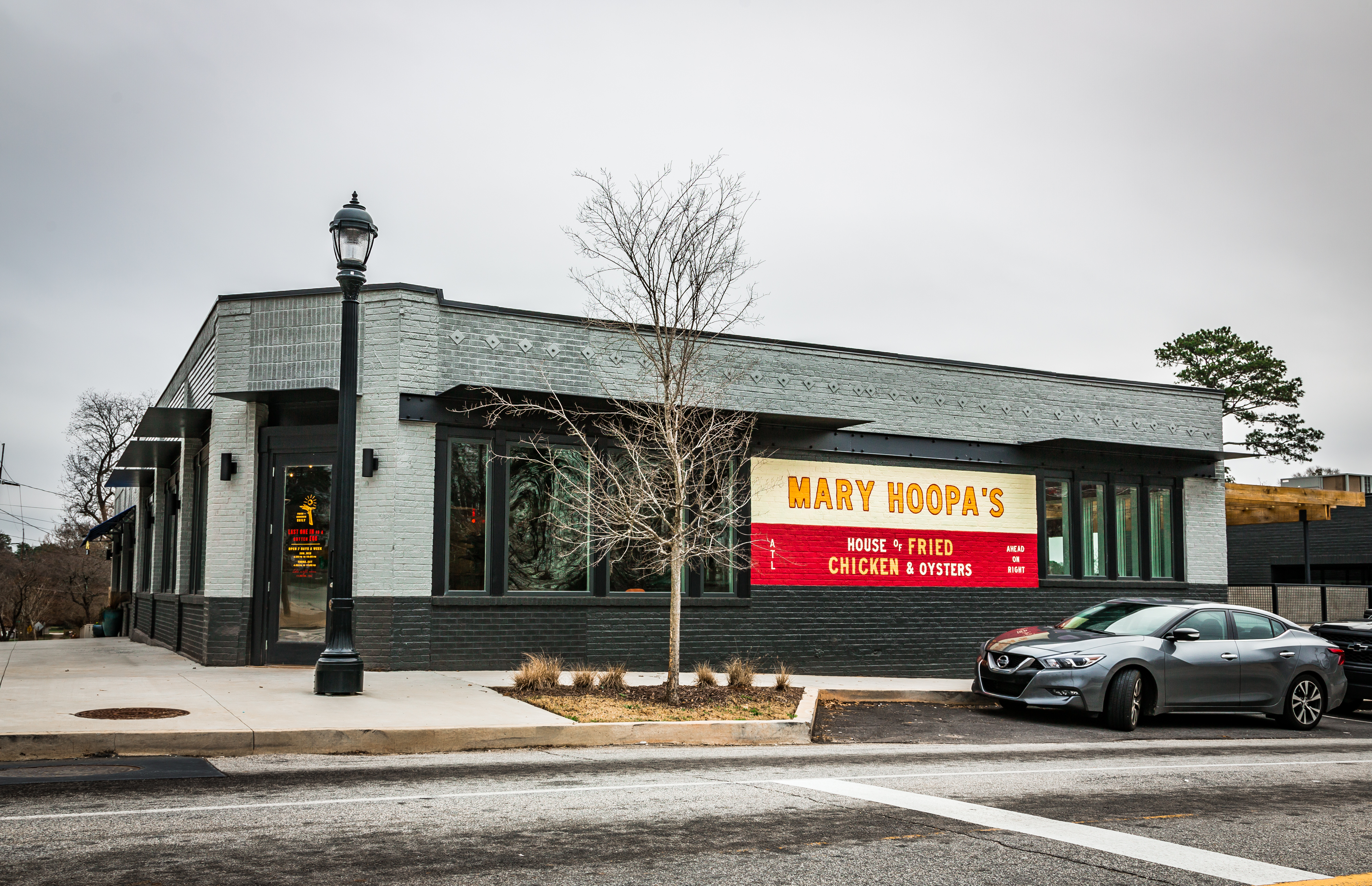 The now closed Mary Hoopa's House of Fried Chicken and Oysters at the corner of Hosea L. Williams and 2nd Avenue in East Lake