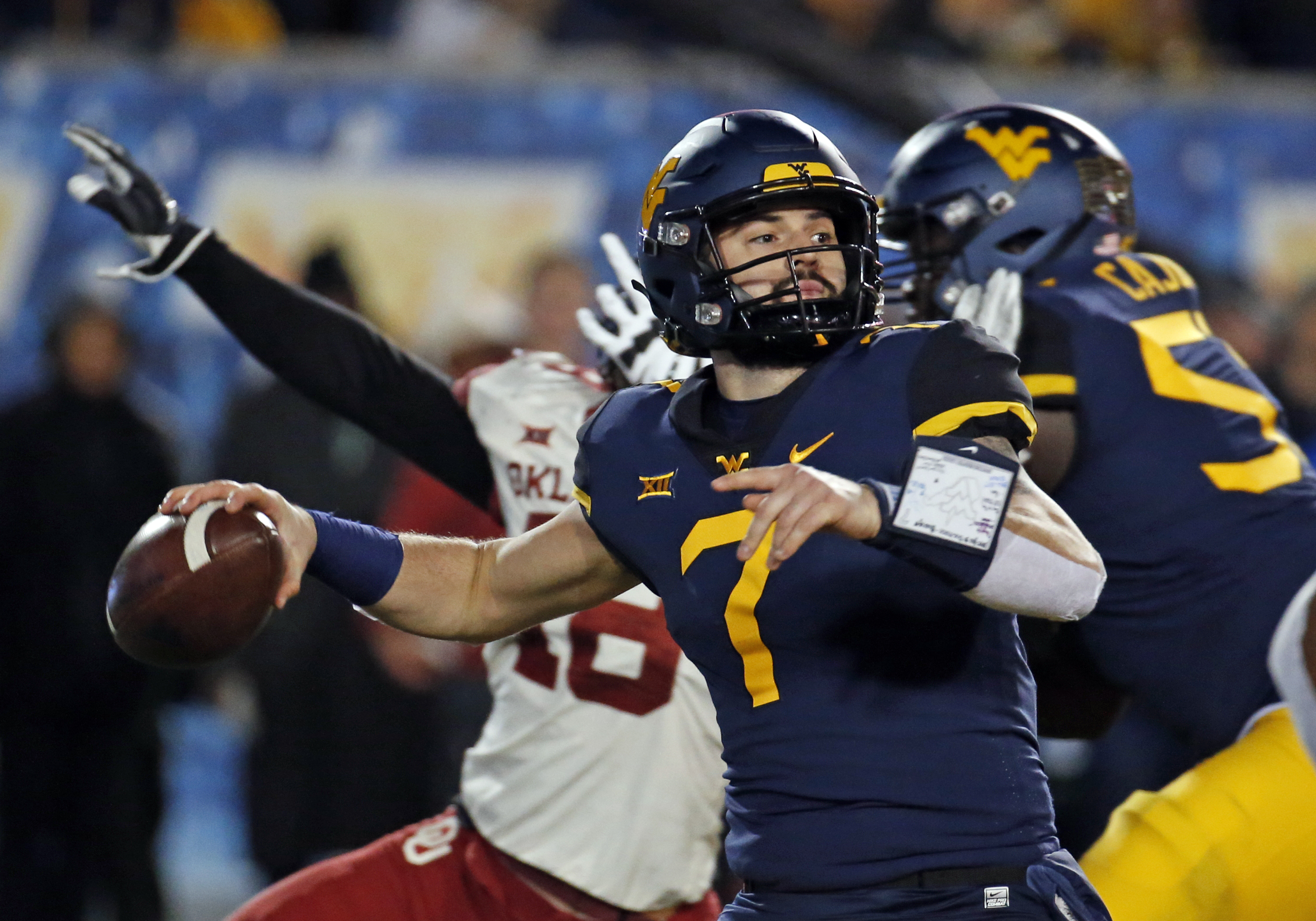 timeless design 5ee92 2b676 Chargers present at WVU pro day, set to meet with QB Will ...