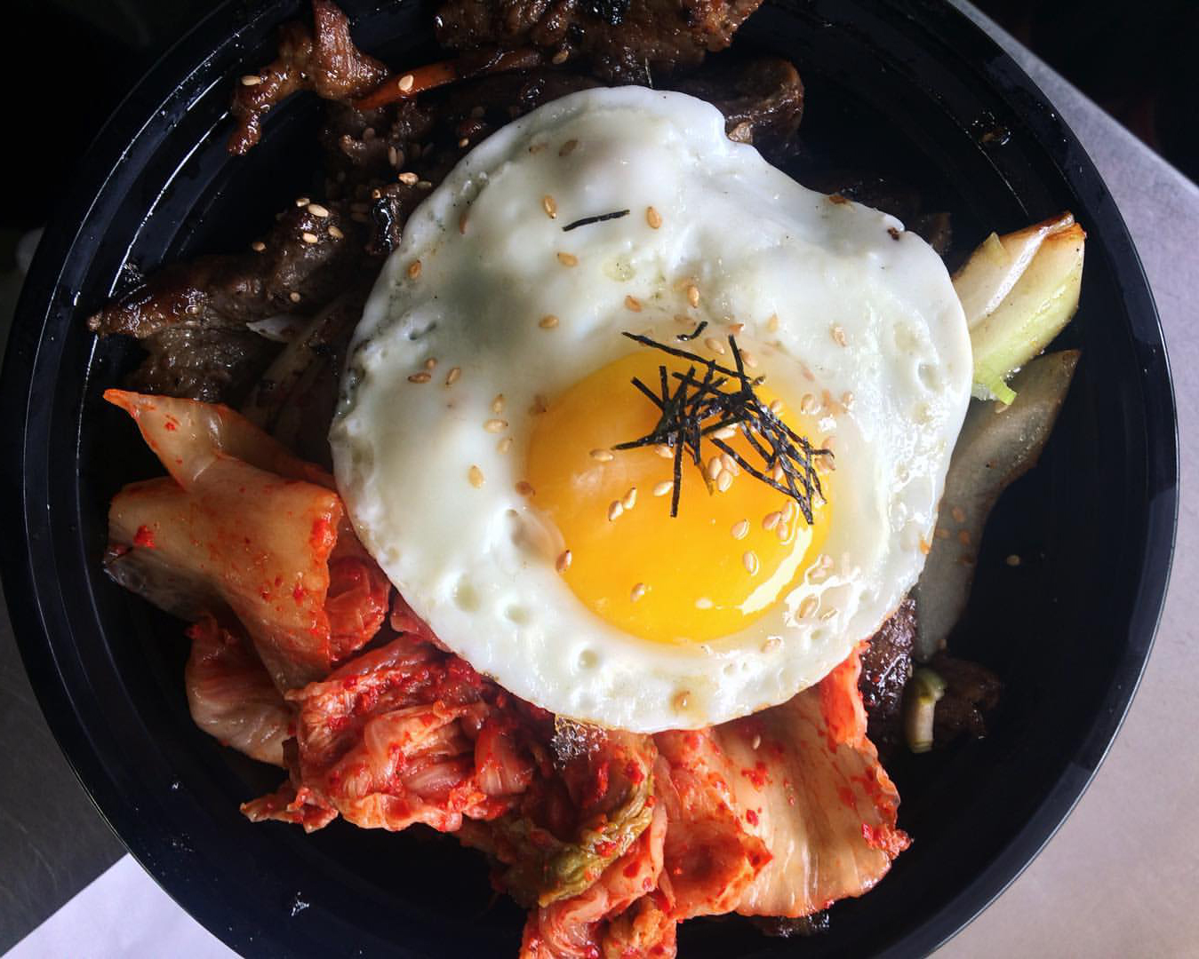 Korean Komfort's bulgogi beef