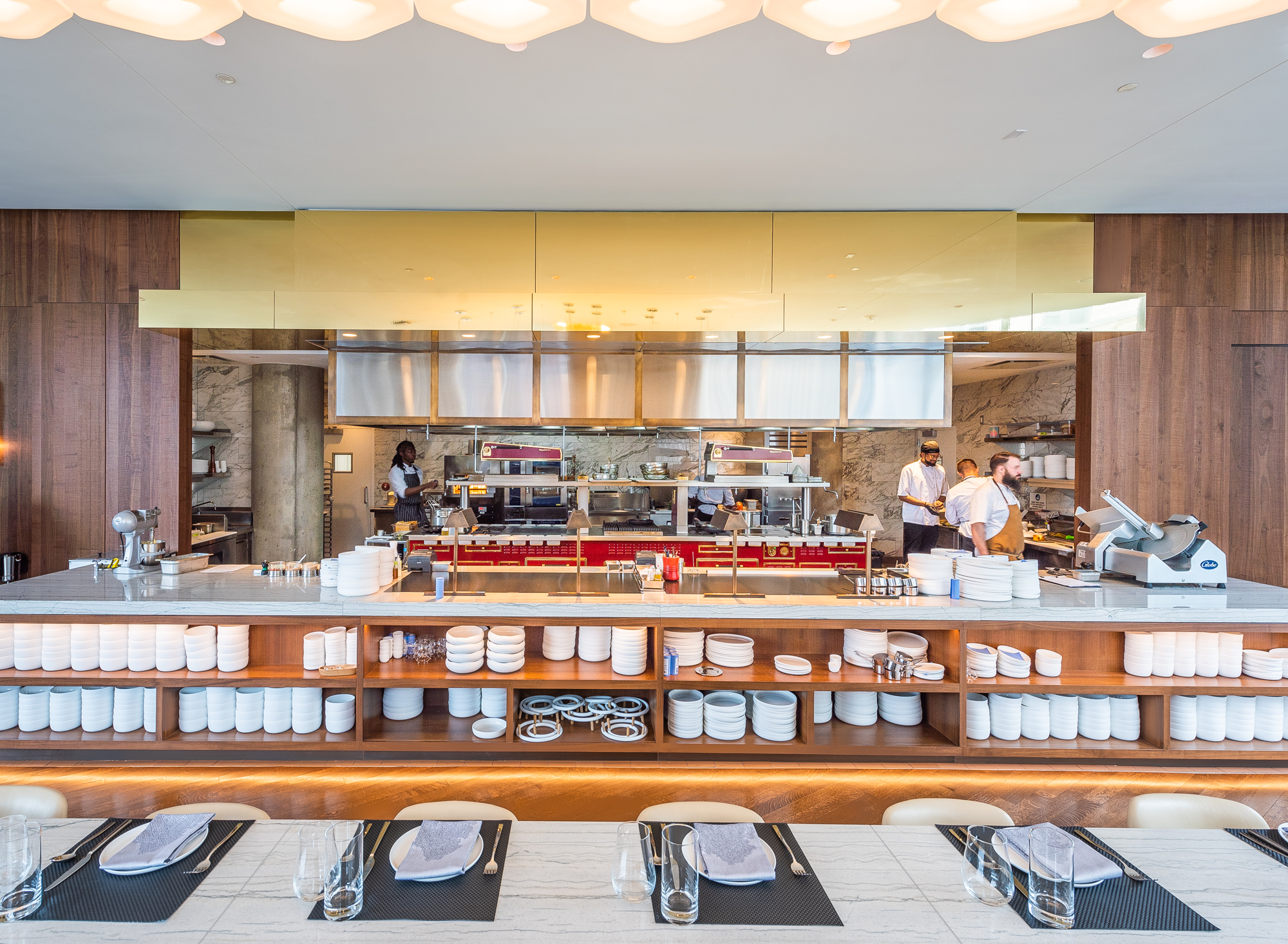 Estuary Restaurant Opens in CityCenterDC With a Theatrical Open Kitchen
