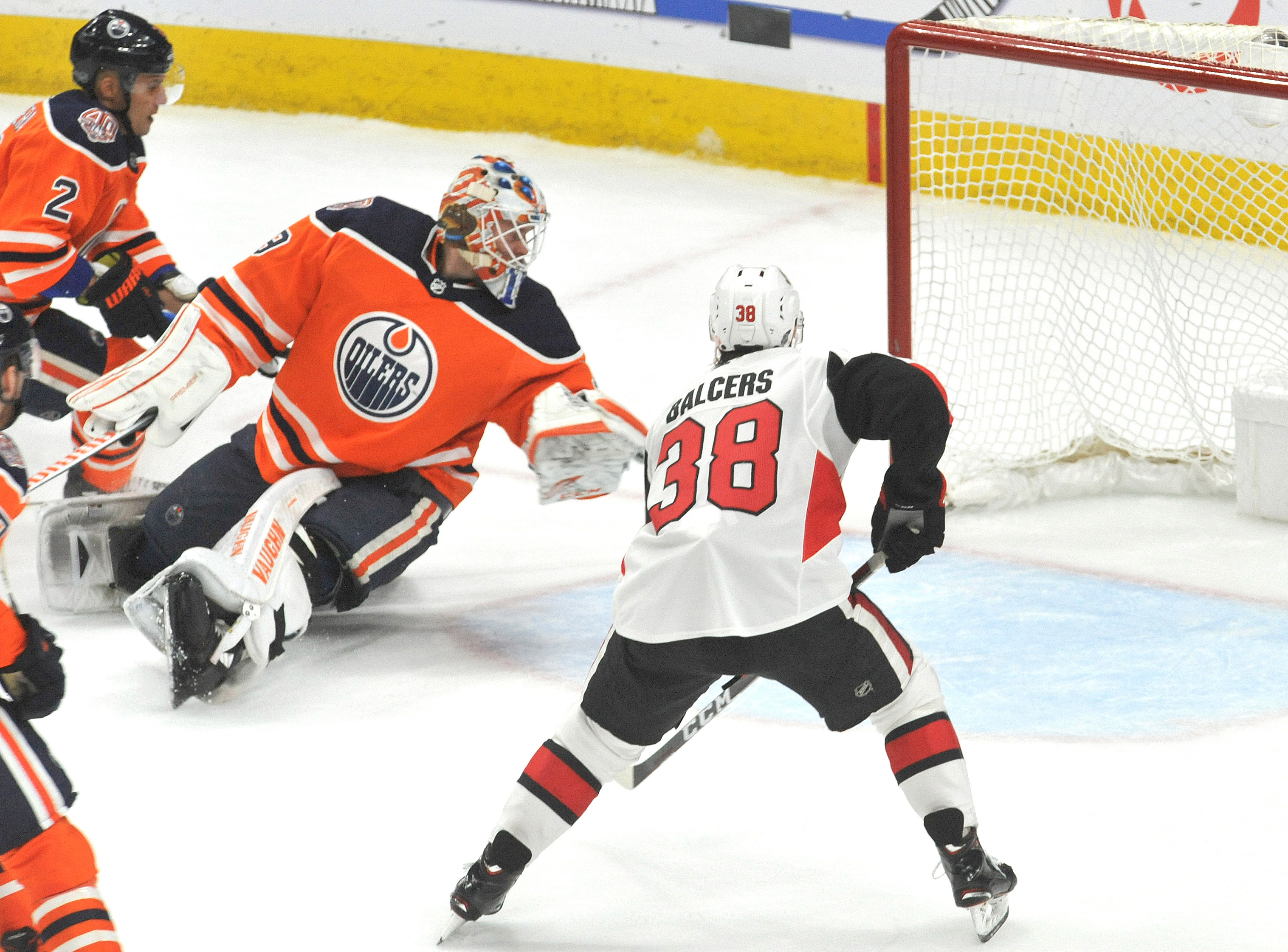 NHL: Ottawa Senators at Edmonton Oilers