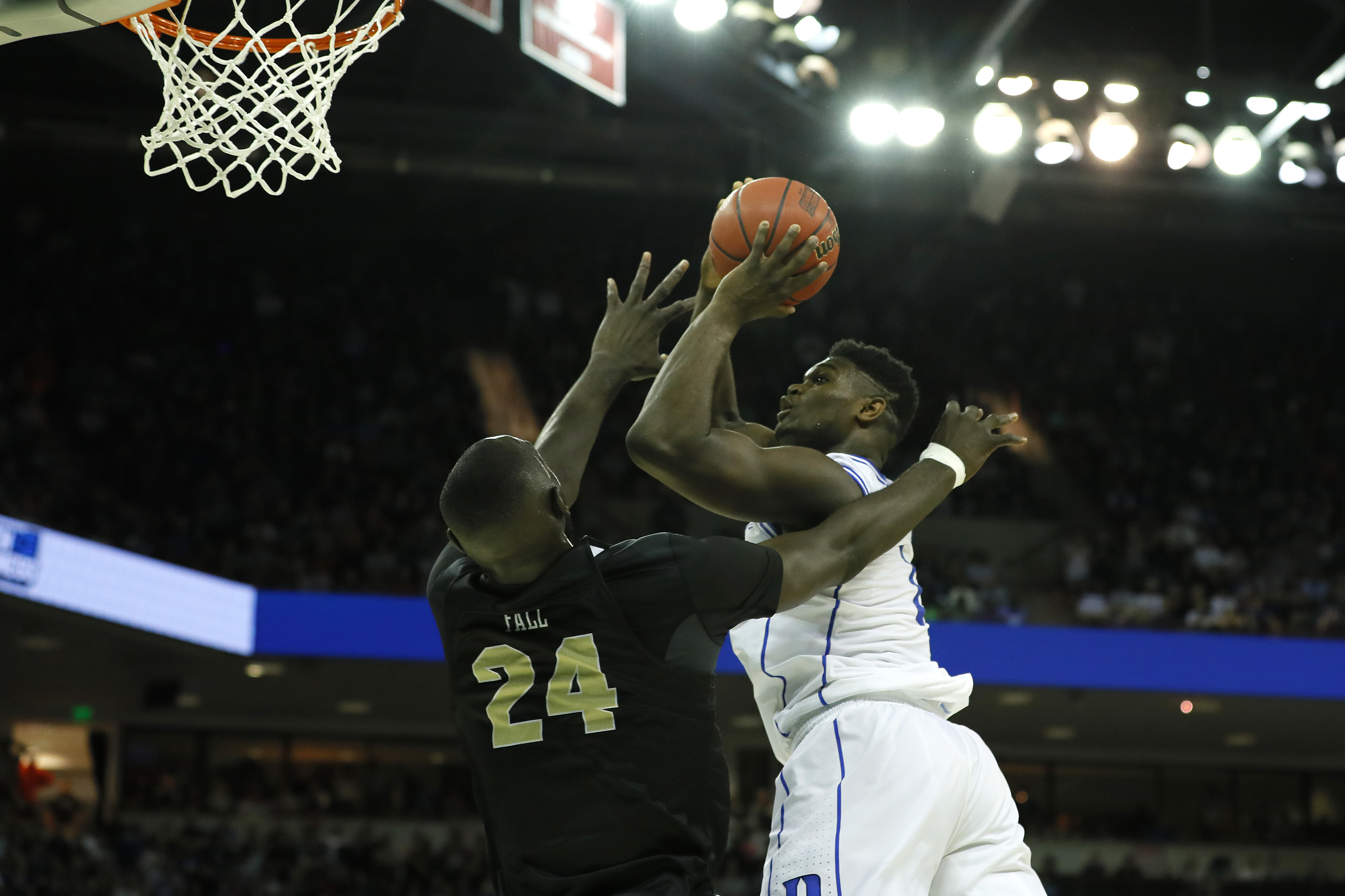 The 11 best Zion Williamson and Tacko Fall highlights from a chaotic Round of 32 Duke win
