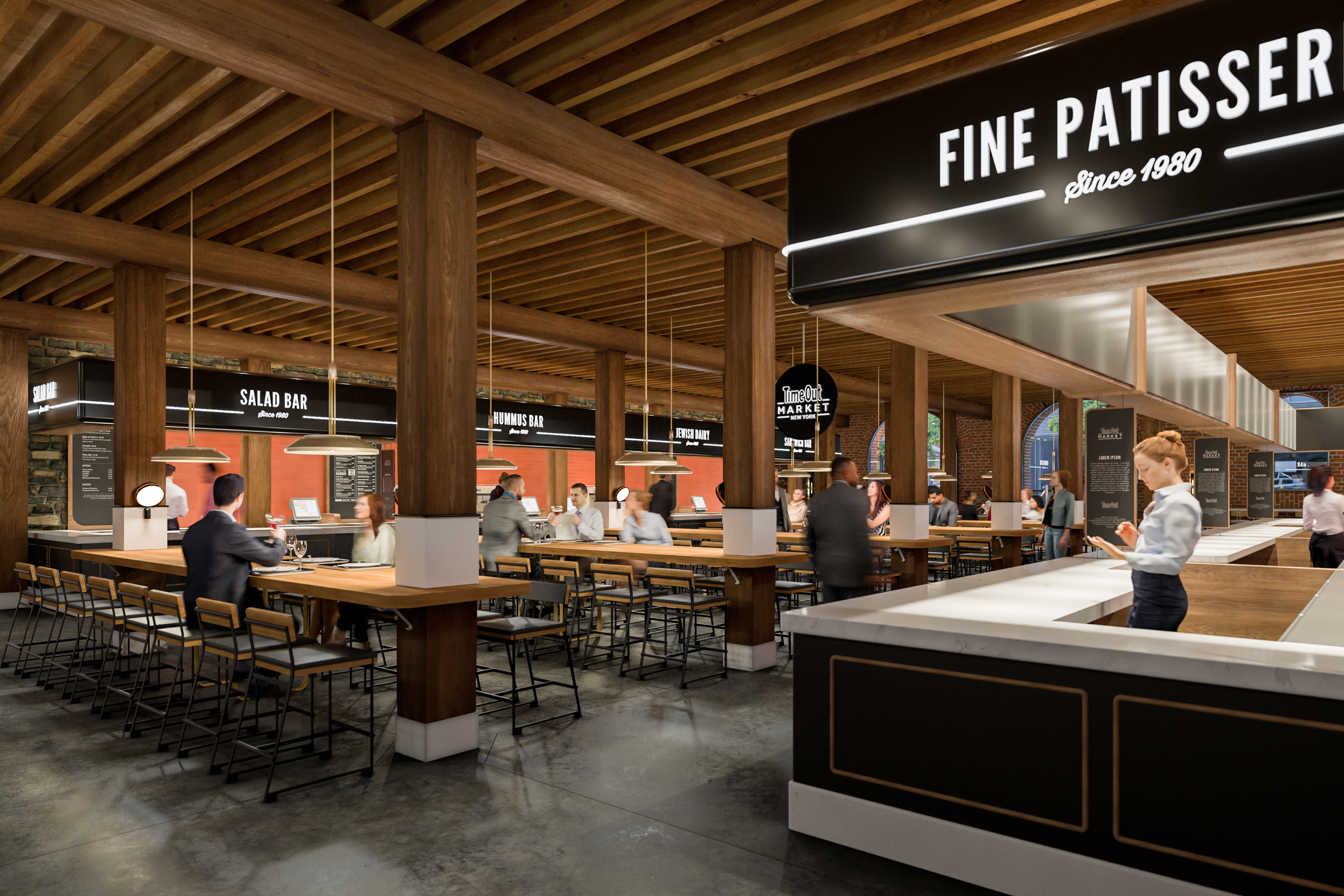 Time Out Market Opens This Spring in Dumbo With Breads Bakery Sandwich Shop