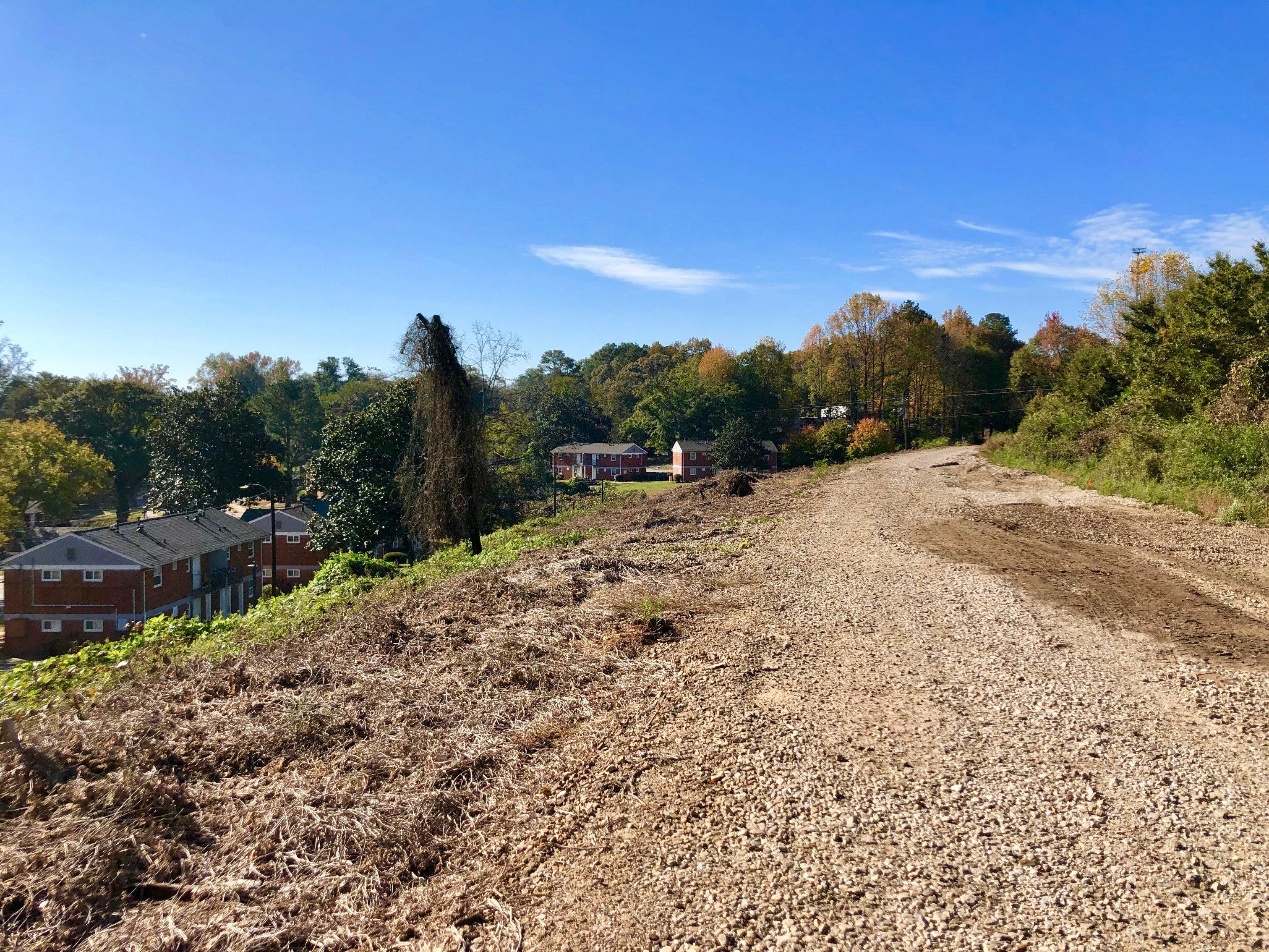 a picture of the unpaved Southside Beltline corridor