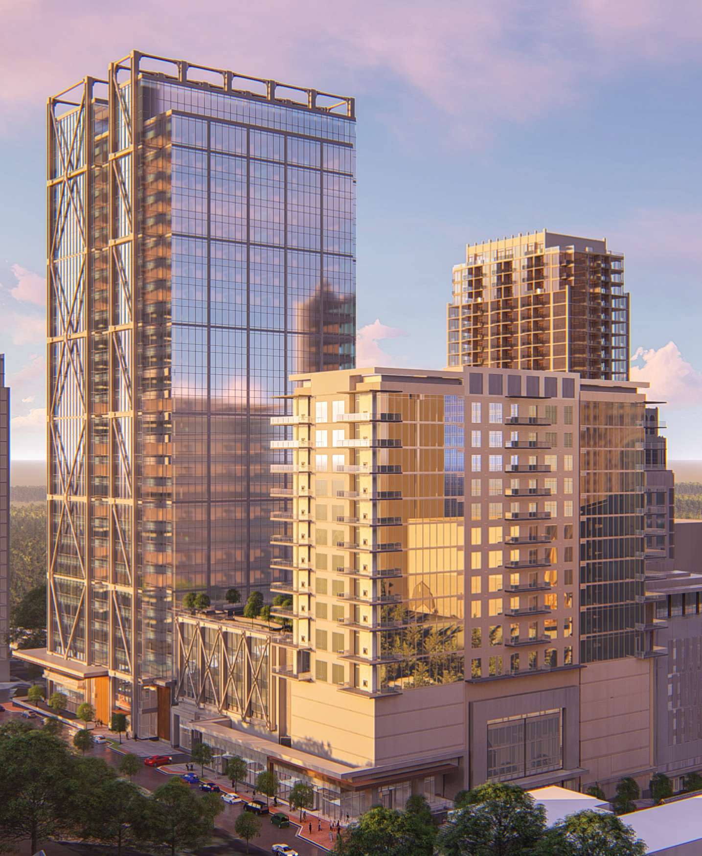 a rendering of 1105 west peachtree