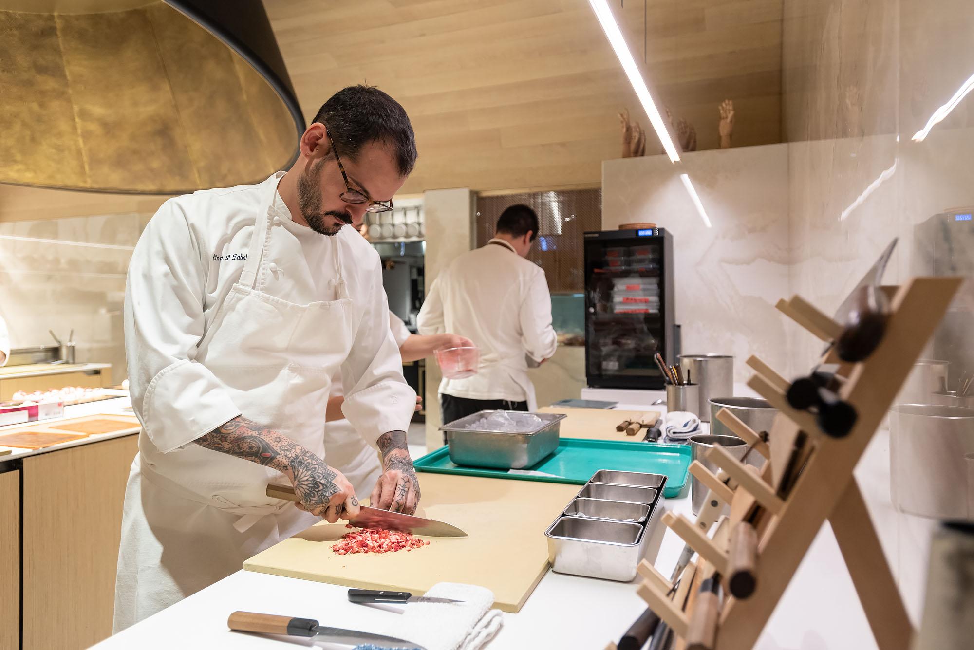 Aitor Zabala prepping at Somni, Los Angeles