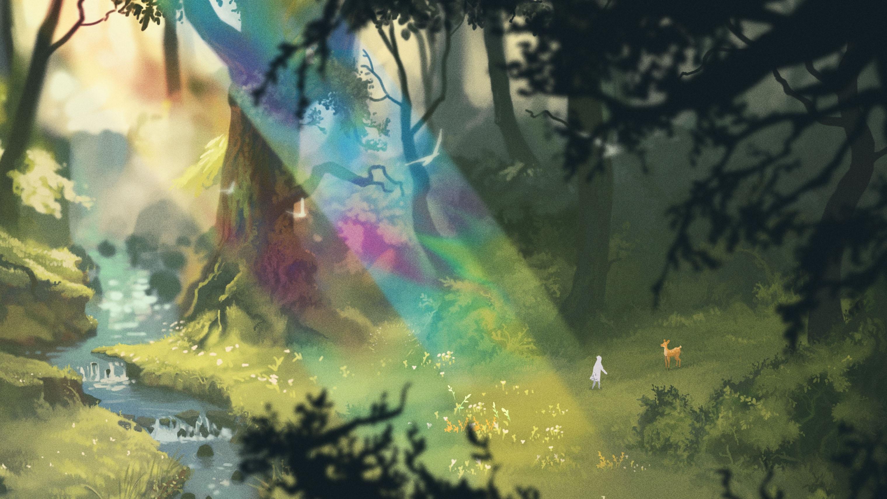 The Wanderer: Frankenstein's Creature - sunlight in a forest